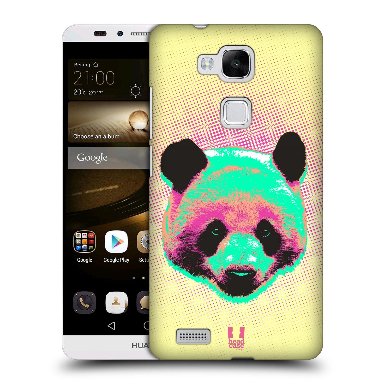 Plastové pouzdro na mobil Huawei Ascend Mate 7 HEAD CASE POP PRINT PANDA (Kryt či obal na mobilní telefon Huawei Ascend Mate7)