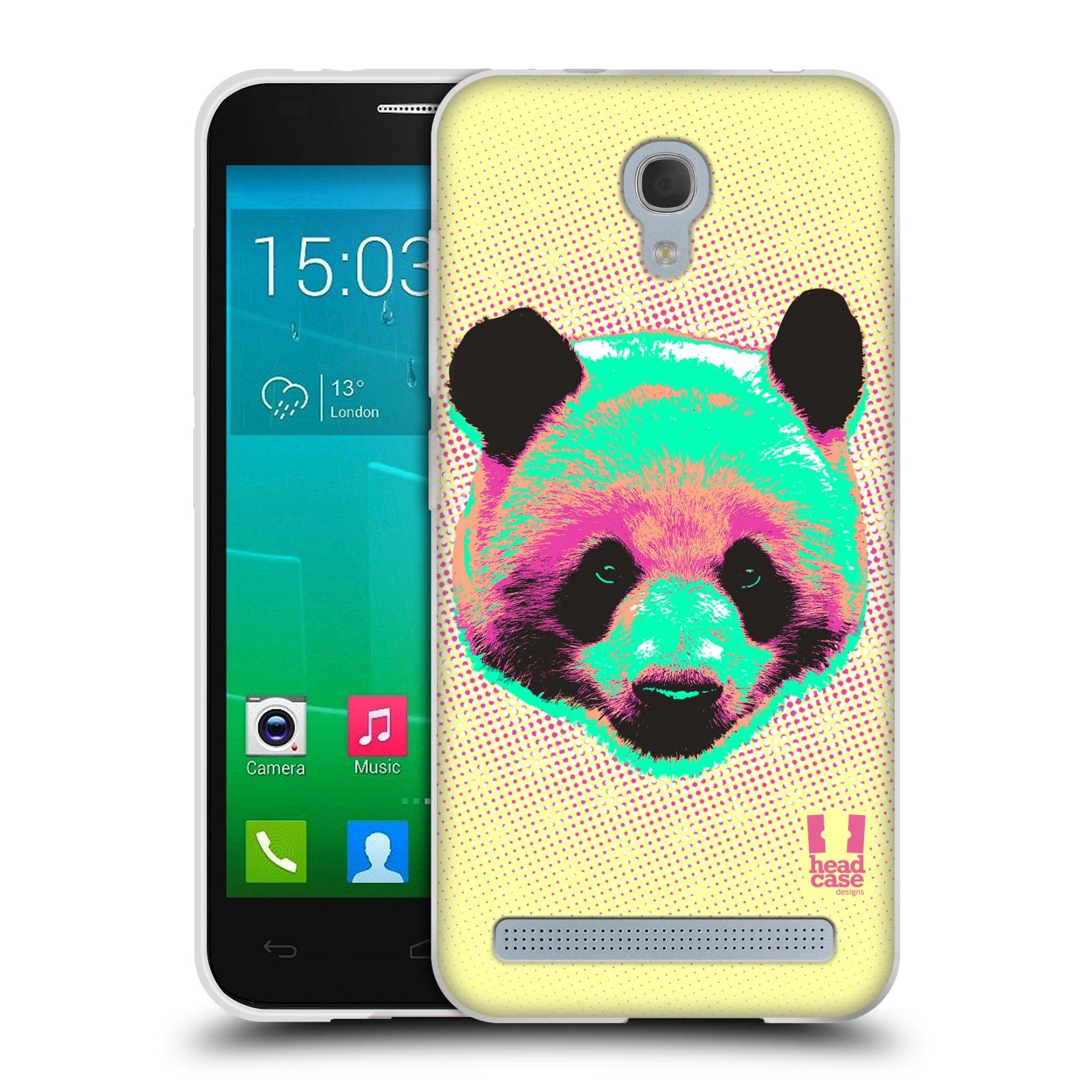 Silikonové pouzdro na mobil Alcatel One Touch Idol 2 Mini S 6036Y HEAD CASE POP PRINT PANDA (Silikonový kryt či obal na mobilní telefon Alcatel Idol 2 Mini S OT-6036Y)
