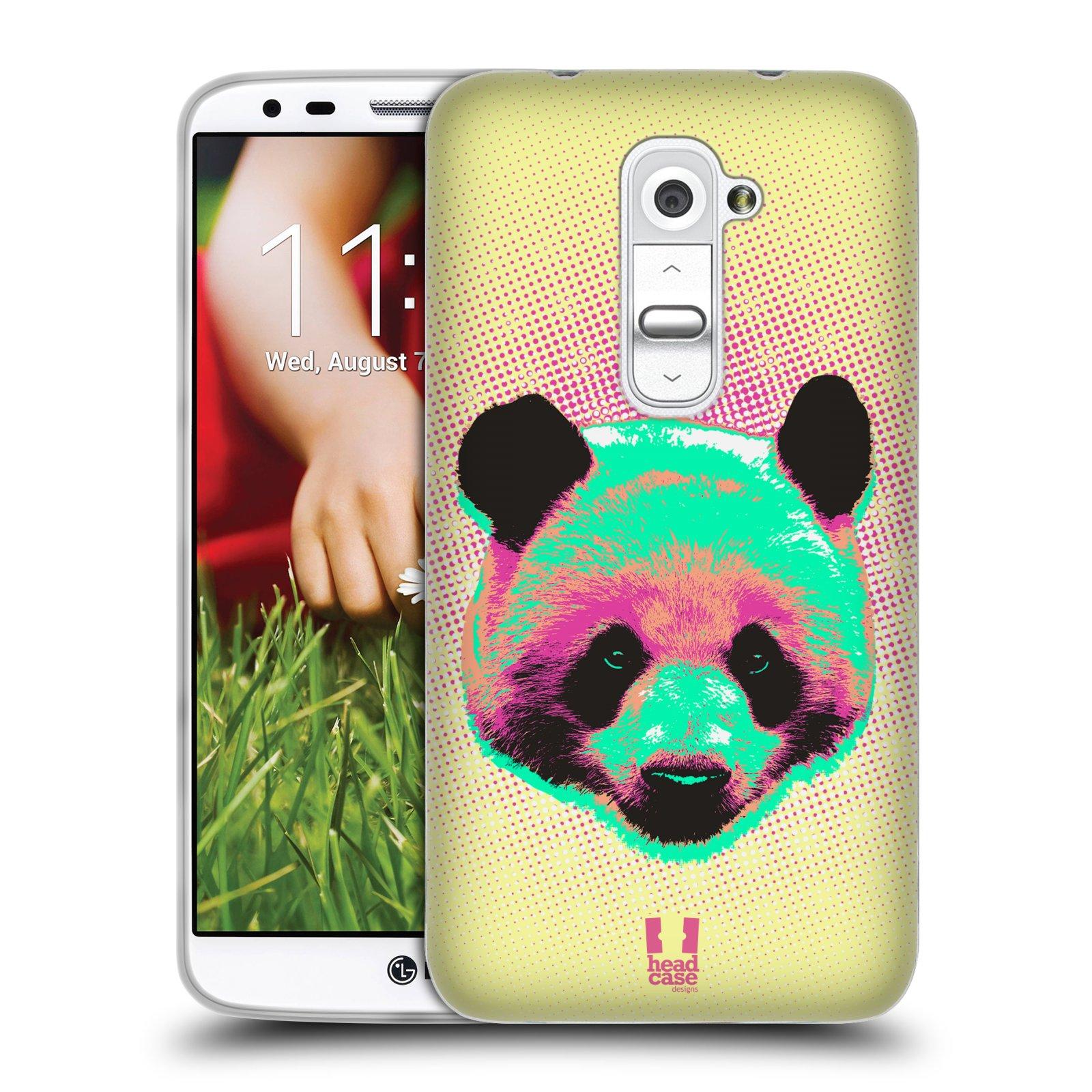 Silikonové pouzdro na mobil LG G2 HEAD CASE POP PRINT PANDA (Silikonový kryt či obal na mobilní telefon LG G2 D802)