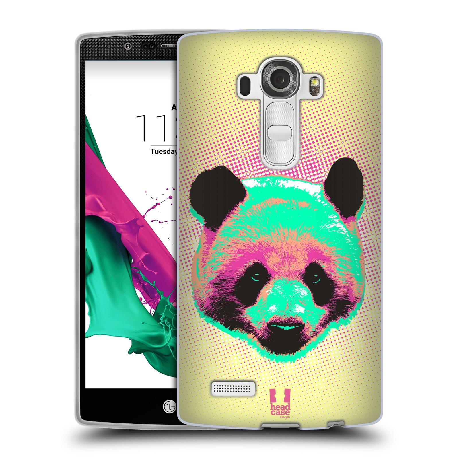 Silikonové pouzdro na mobil LG G4 HEAD CASE POP PRINT PANDA (Silikonový kryt či obal na mobilní telefon LG G4 H815)