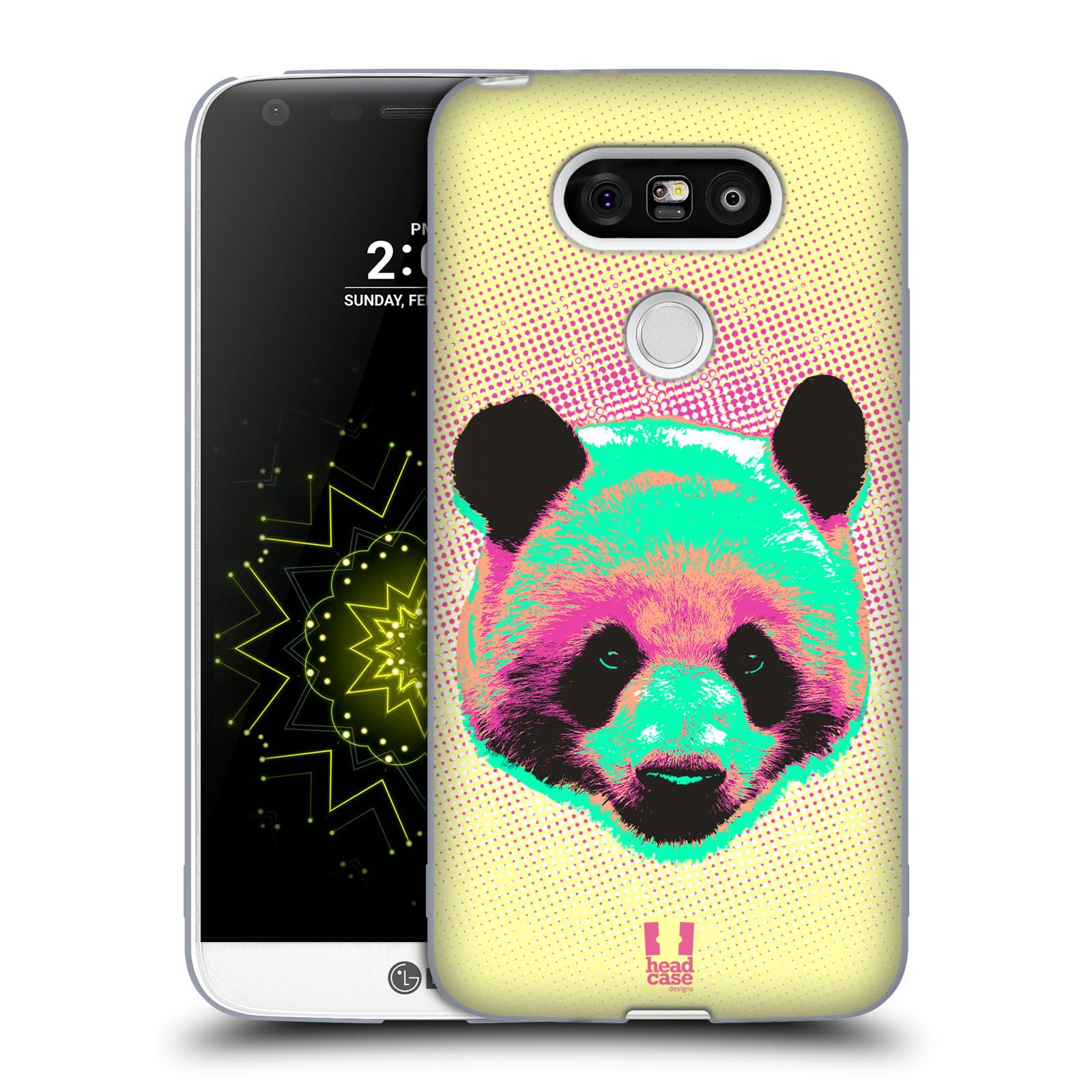 Silikonové pouzdro na mobil LG G5 HEAD CASE POP PRINT PANDA (Silikonový kryt či obal na mobilní telefon LG G5 H850)