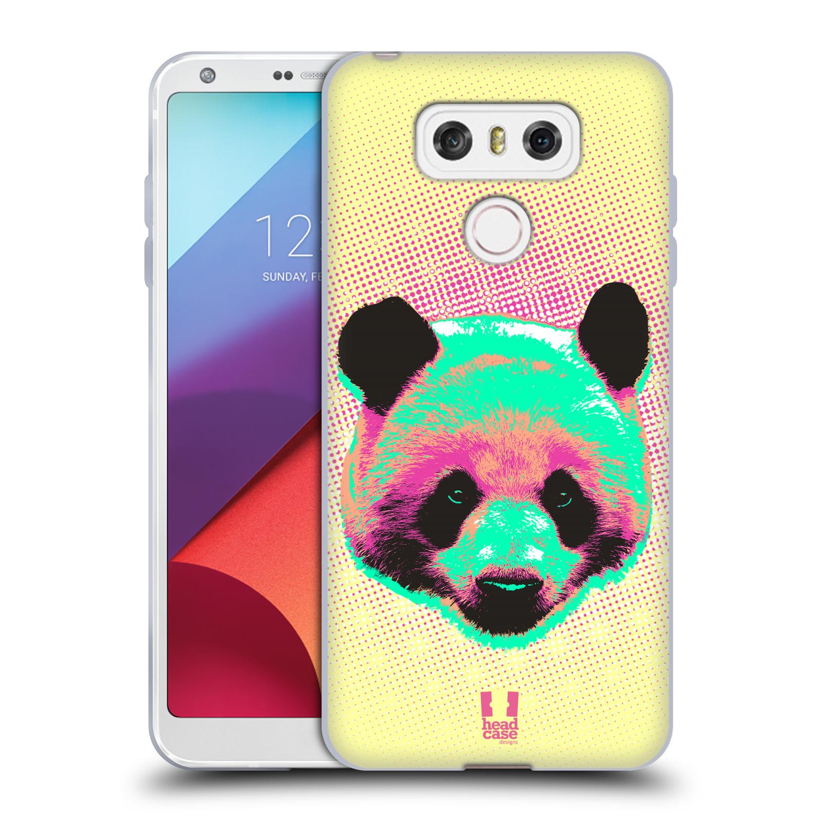 Silikonové pouzdro na mobil LG G6 - Head Case POP PRINT PANDA (Silikonový kryt či obal na mobilní telefon LG G6 H870 / LG G6 Dual SIM H870DS)