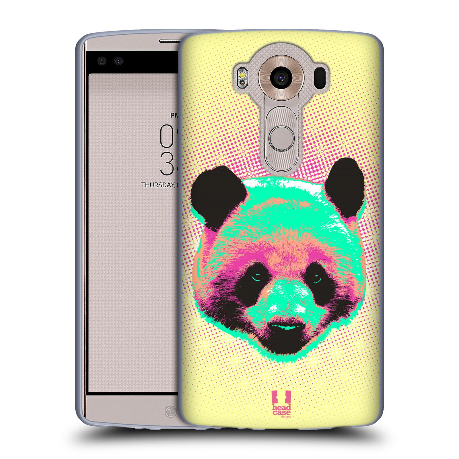 Silikonové pouzdro na mobil LG V10 HEAD CASE POP PRINT PANDA (Silikonový kryt či obal na mobilní telefon LG V10 H960 / H960A)