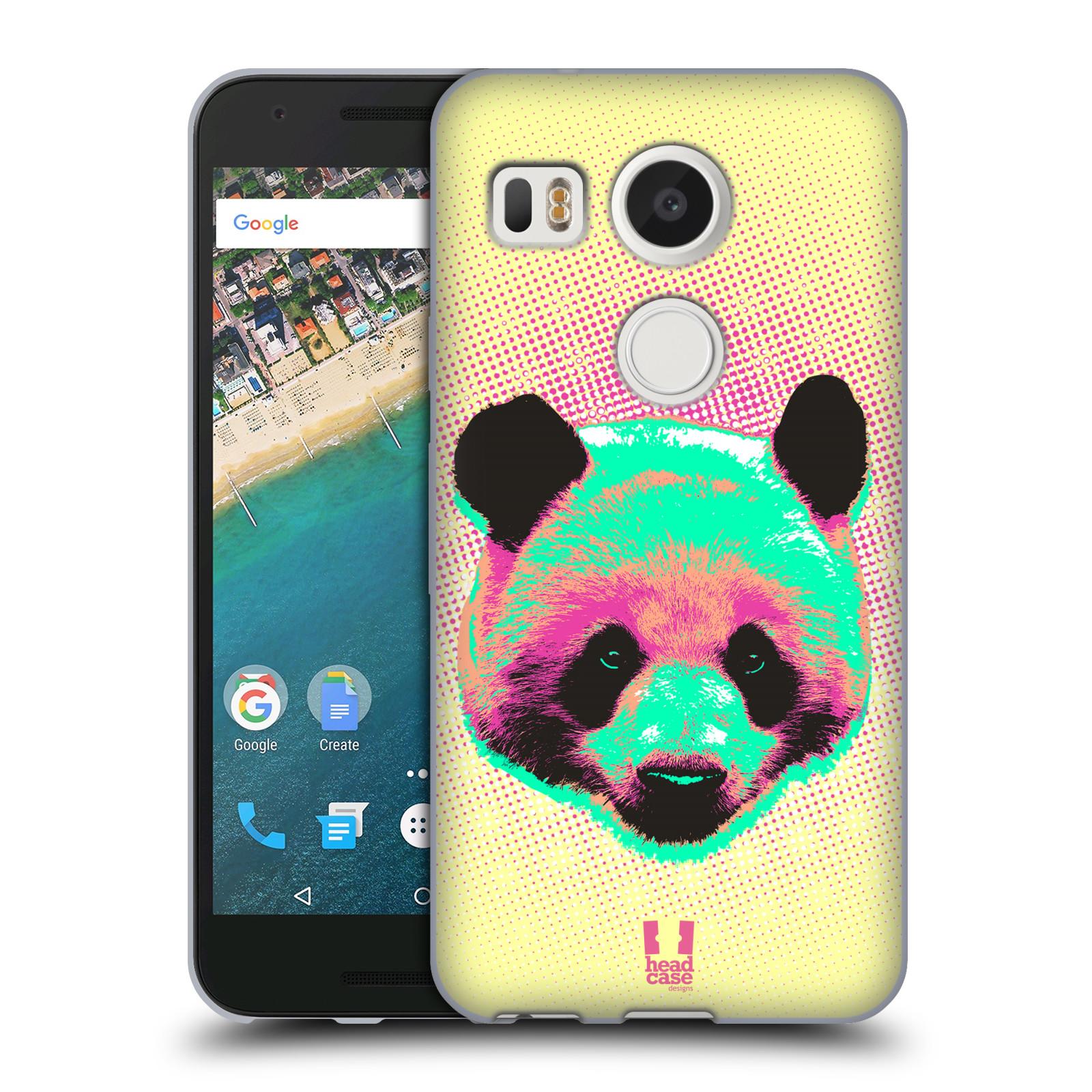 Silikonové pouzdro na mobil LG Nexus 5X - Head Case - POP PRINT PANDA (Silikonový kryt či obal na mobilní telefon LG Nexus 5X)