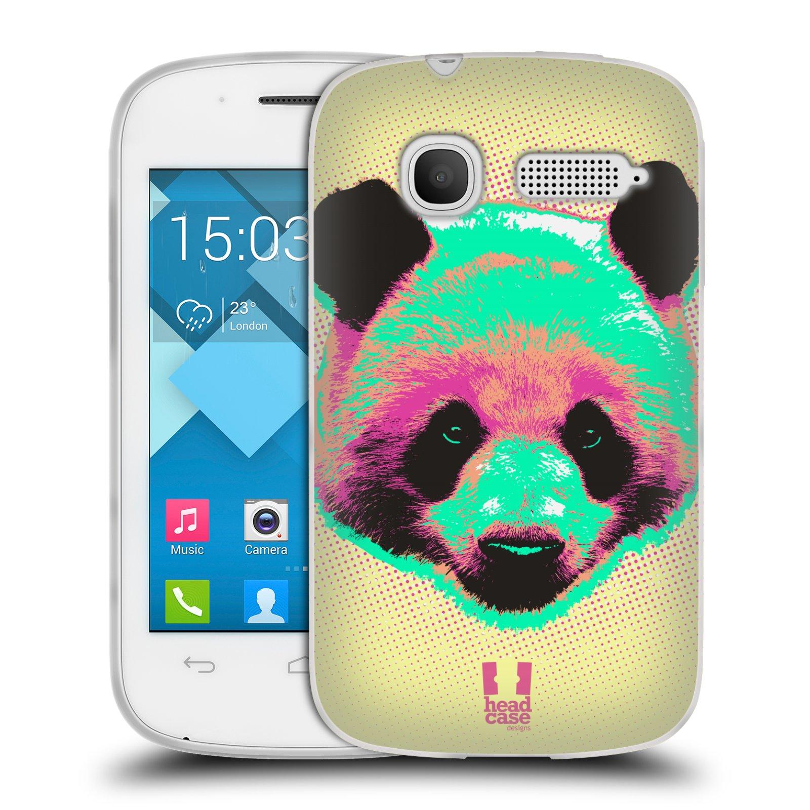 Silikonové pouzdro na mobil Alcatel One Touch Pop C1 HEAD CASE POP PRINT PANDA (Silikonový kryt či obal na mobilní telefon Alcatel OT-4015D POP C1)