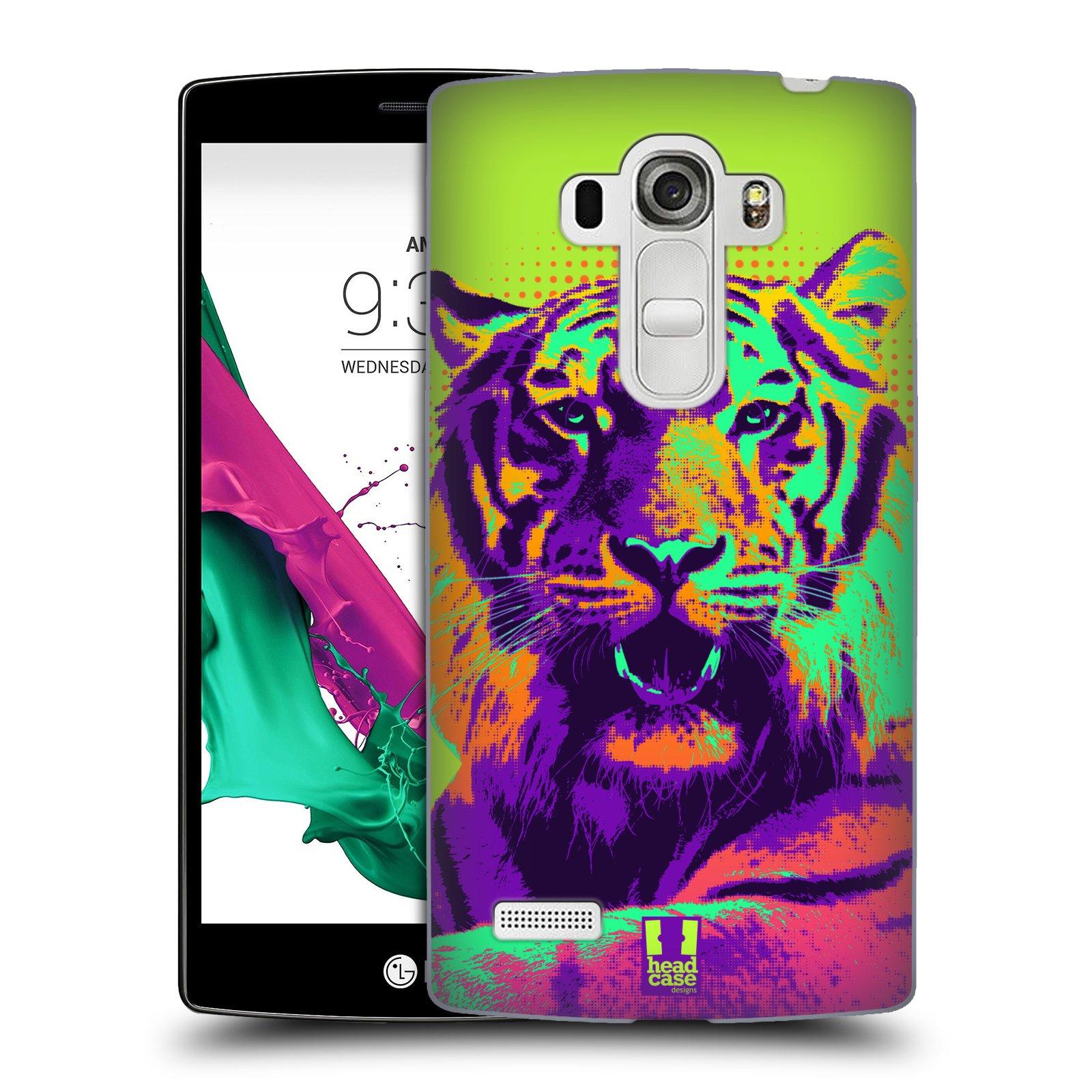 Plastové pouzdro na mobil LG G4s HEAD CASE POP PRINT TYGR (Kryt či obal na mobilní telefon LG G4s H735n)