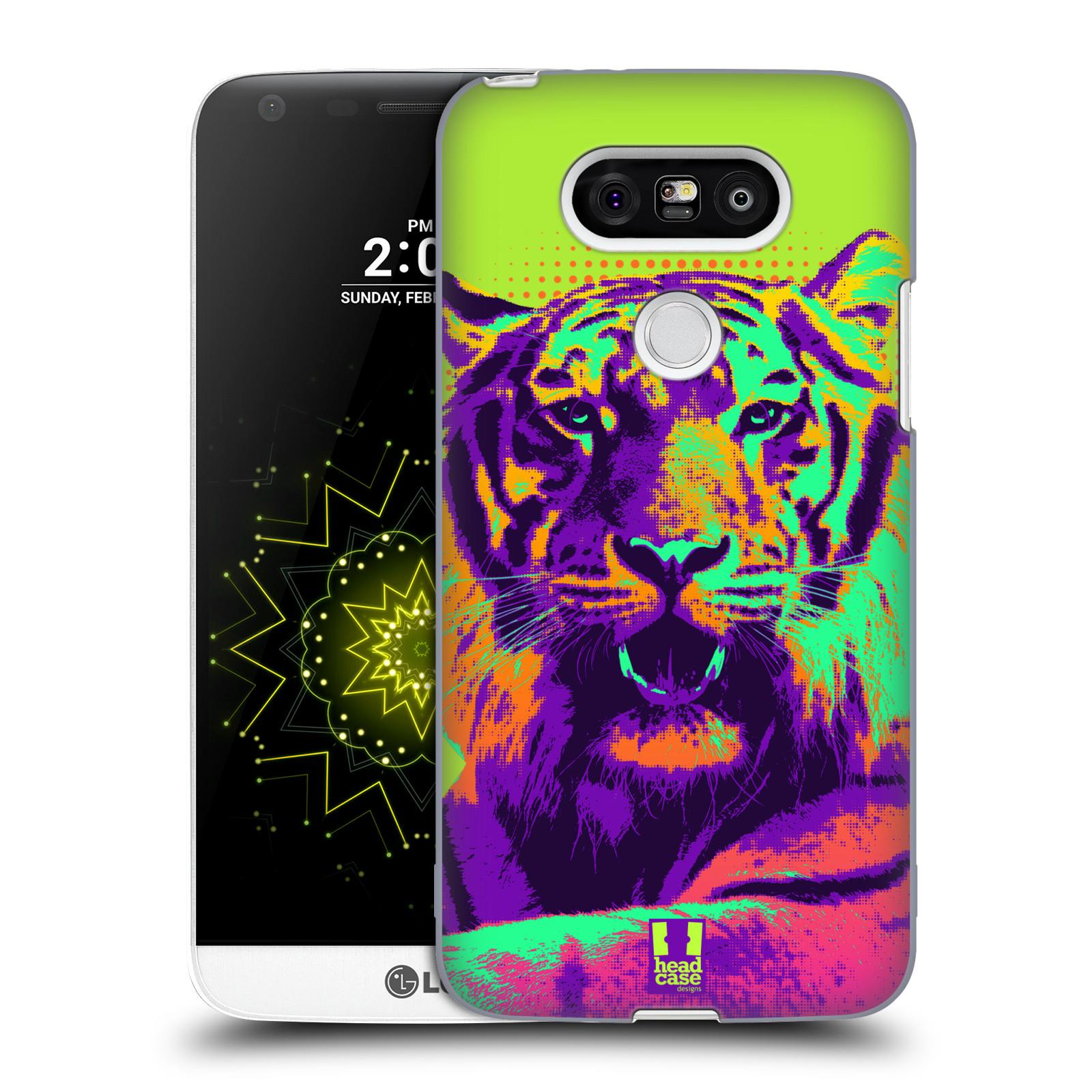 Plastové pouzdro na mobil LG G5 HEAD CASE POP PRINT TYGR (Kryt či obal na mobilní telefon LG G5 H850)