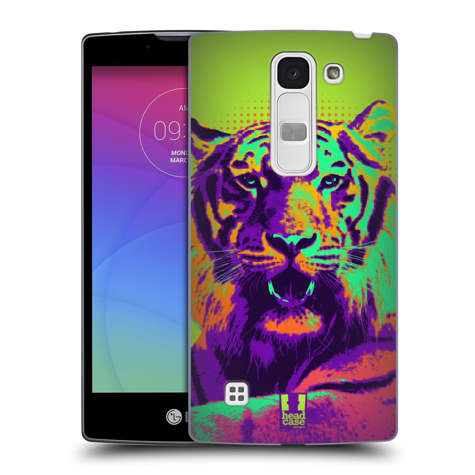 Plastové pouzdro na mobil LG Spirit LTE HEAD CASE POP PRINT TYGR (Kryt či obal na mobilní telefon LG Spirit H420 a LG Spirit LTE H440N)