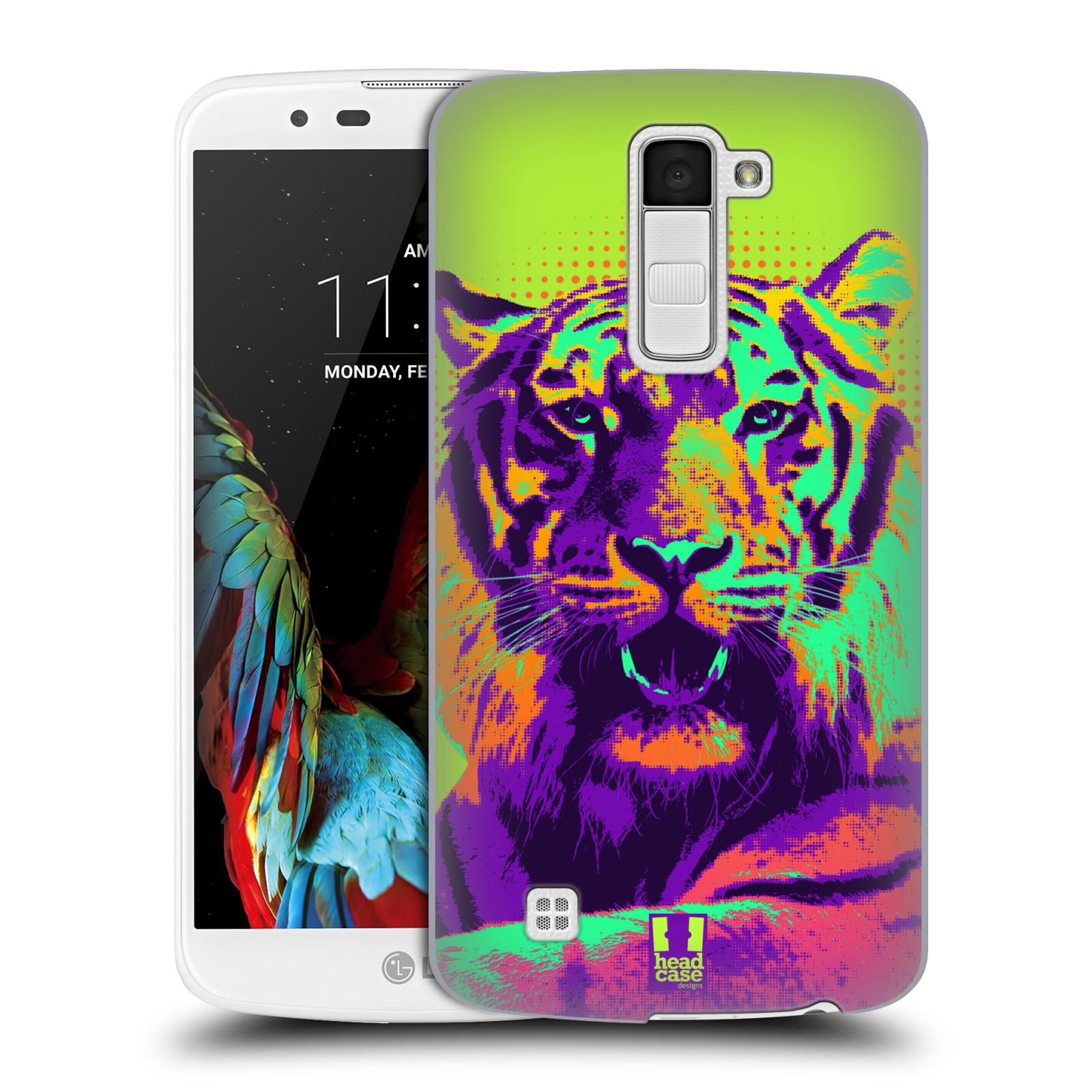 Plastové pouzdro na mobil LG K10 HEAD CASE POP PRINT TYGR (Kryt či obal na mobilní telefon LG K10)