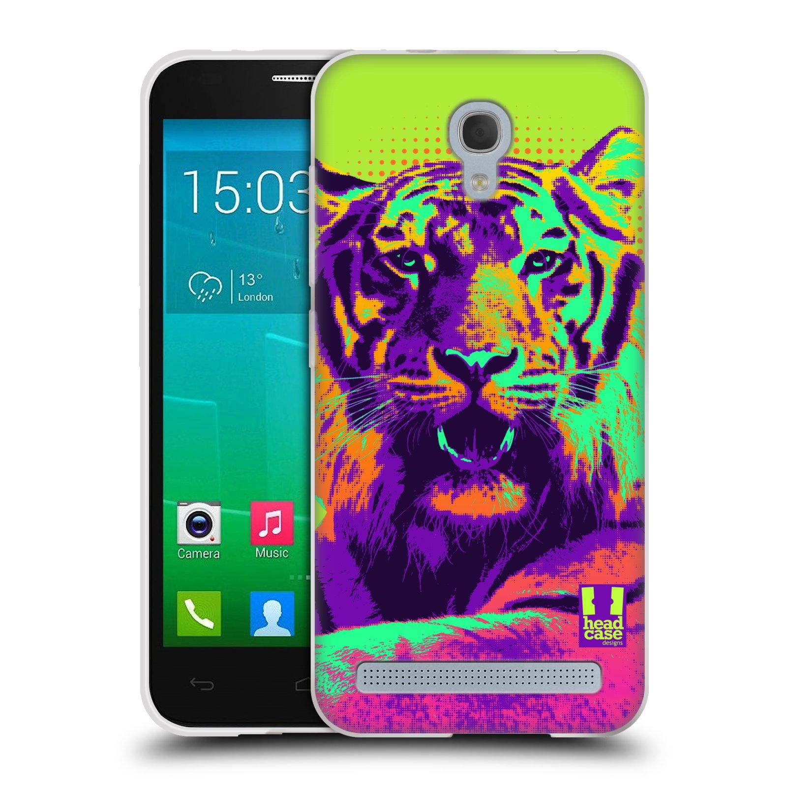 Silikonové pouzdro na mobil Alcatel One Touch Idol 2 Mini S 6036Y HEAD CASE POP PRINT TYGR (Silikonový kryt či obal na mobilní telefon Alcatel Idol 2 Mini S OT-6036Y)