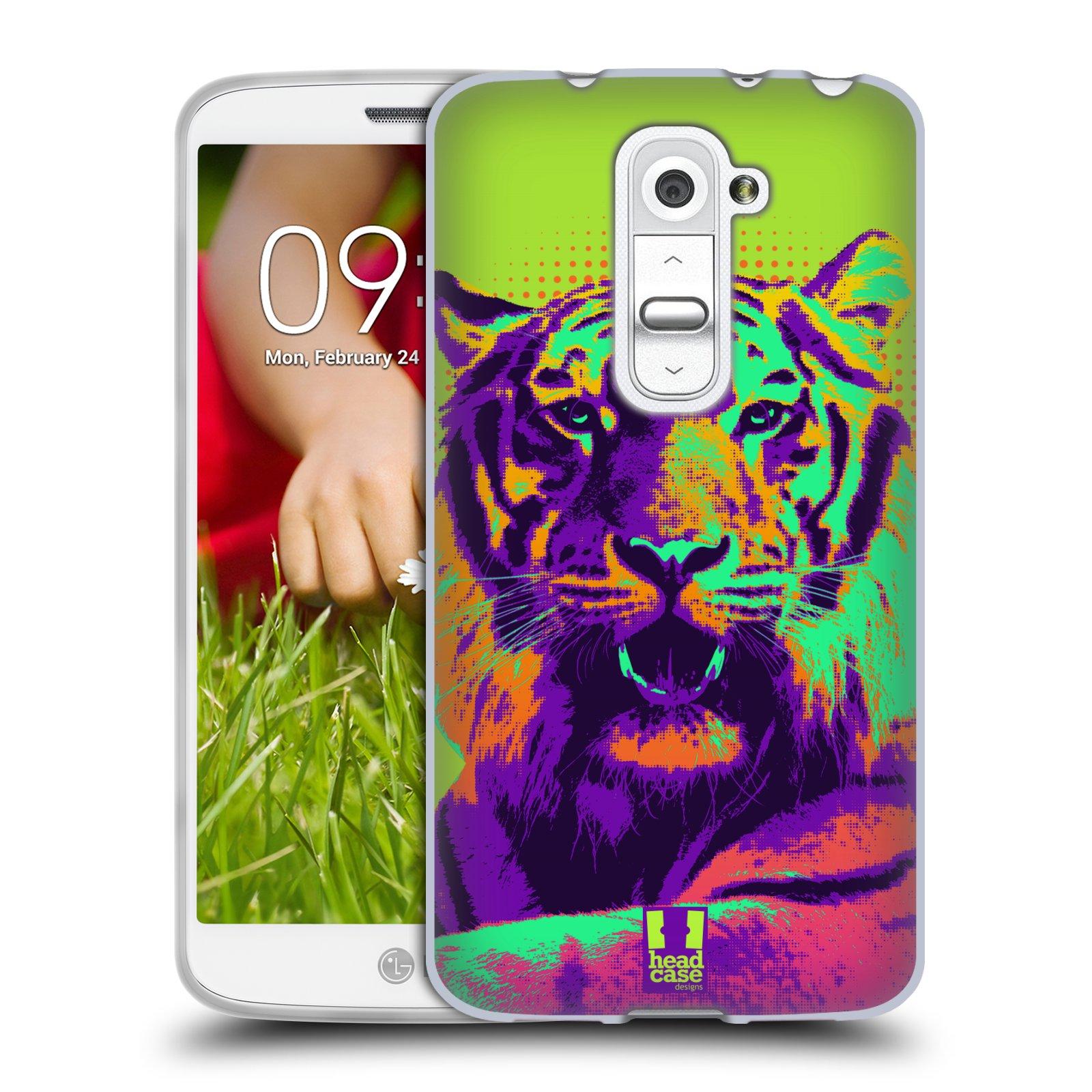Silikonové pouzdro na mobil LG G2 Mini HEAD CASE POP PRINT TYGR (Silikonový kryt či obal na mobilní telefon LG G2 Mini D620)