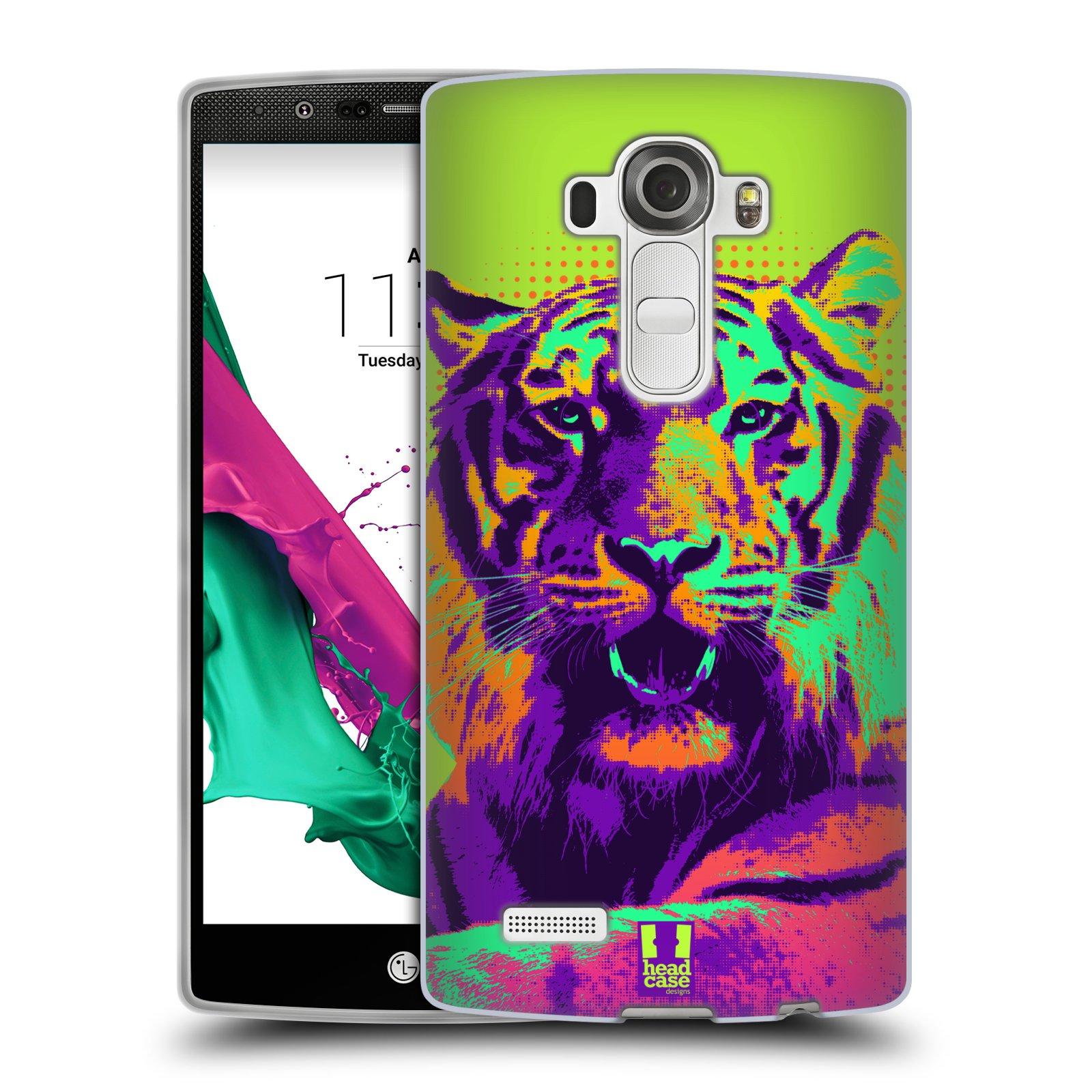 Silikonové pouzdro na mobil LG G4 HEAD CASE POP PRINT TYGR (Silikonový kryt či obal na mobilní telefon LG G4 H815)