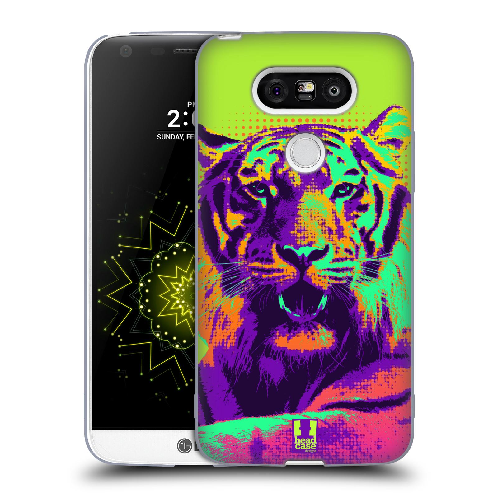 Silikonové pouzdro na mobil LG G5 HEAD CASE POP PRINT TYGR (Silikonový kryt či obal na mobilní telefon LG G5 H850)