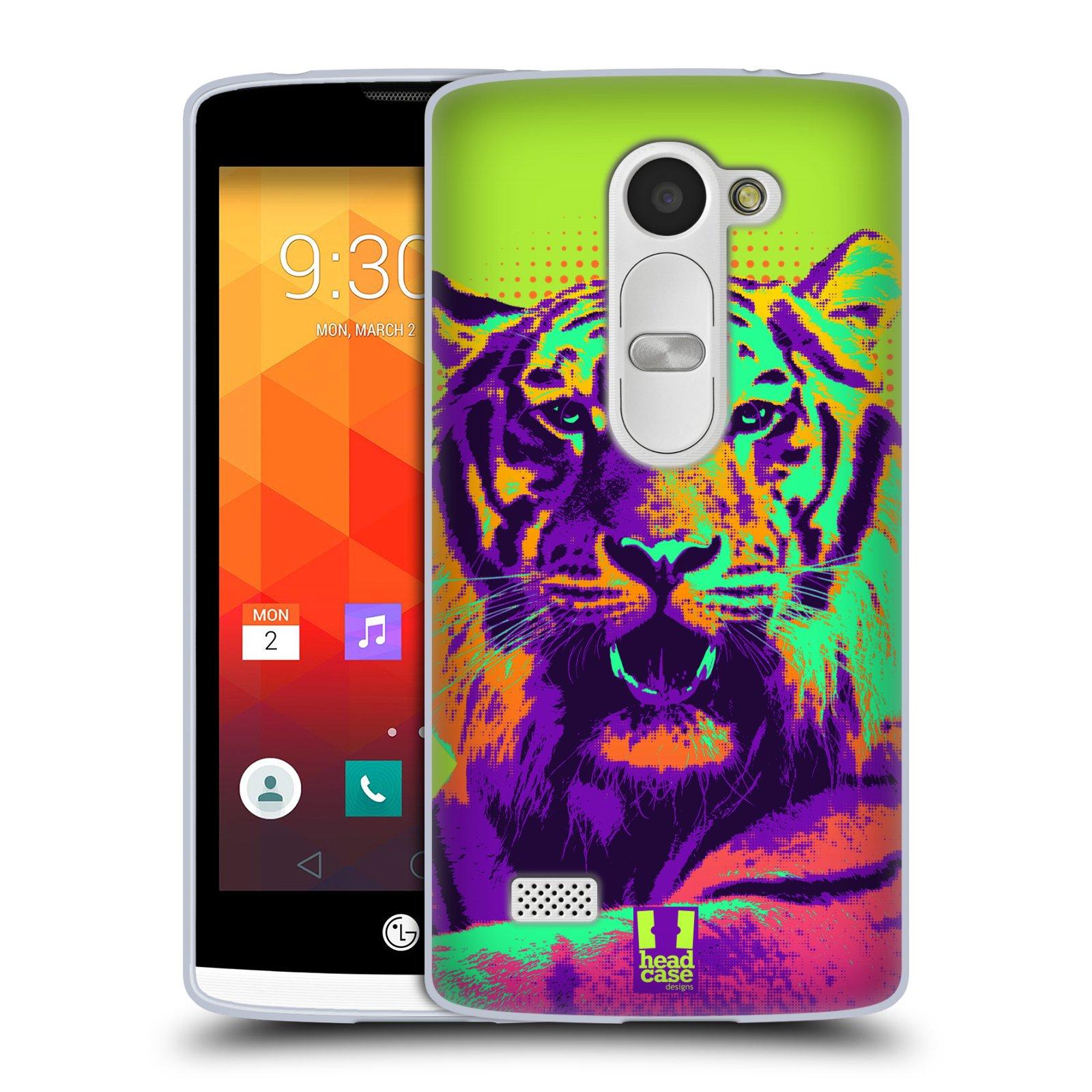 Silikonové pouzdro na mobil LG Leon LTE HEAD CASE POP PRINT TYGR (Silikonový kryt či obal na mobilní telefon LG Leon H320 a LG Leon LTE H340N)