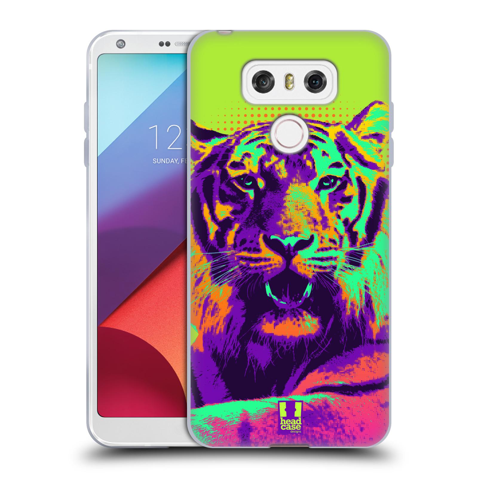 Silikonové pouzdro na mobil LG G6 - Head Case POP PRINT TYGR (Silikonový kryt či obal na mobilní telefon LG G6 H870 / LG G6 Dual SIM H870DS)