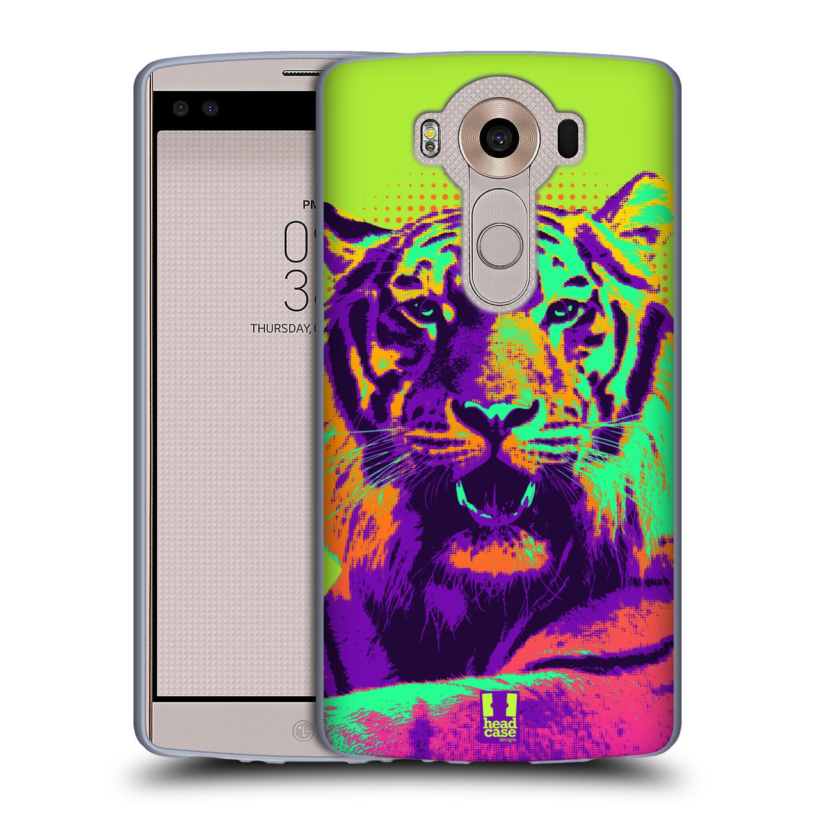 Silikonové pouzdro na mobil LG V10 HEAD CASE POP PRINT TYGR (Silikonový kryt či obal na mobilní telefon LG V10 H960 / H960A)