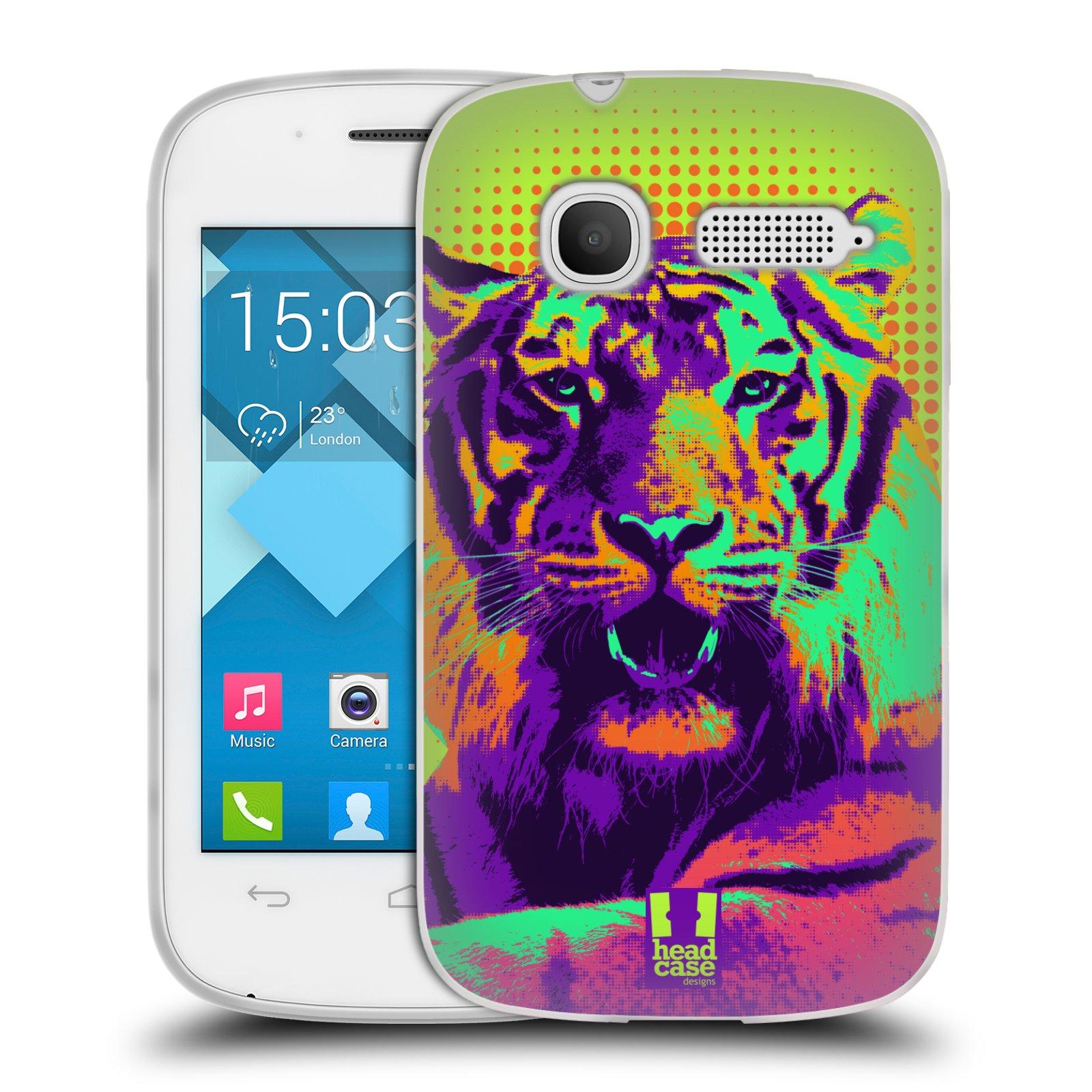 Silikonové pouzdro na mobil Alcatel One Touch Pop C1 HEAD CASE POP PRINT TYGR (Silikonový kryt či obal na mobilní telefon Alcatel OT-4015D POP C1)