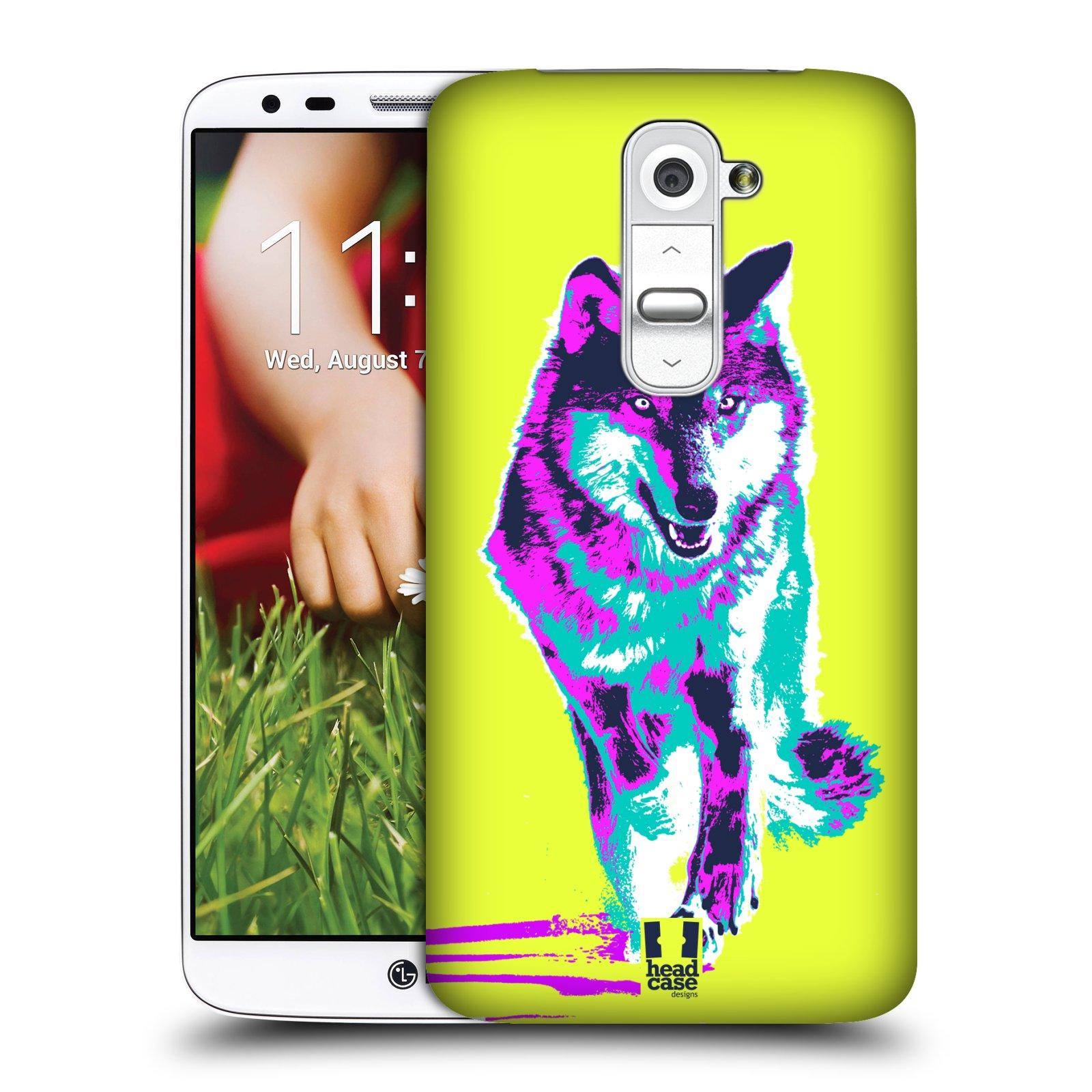 Plastové pouzdro na mobil LG G2 HEAD CASE POP PRINT VLK (Kryt či obal na mobilní telefon LG G2 D802)