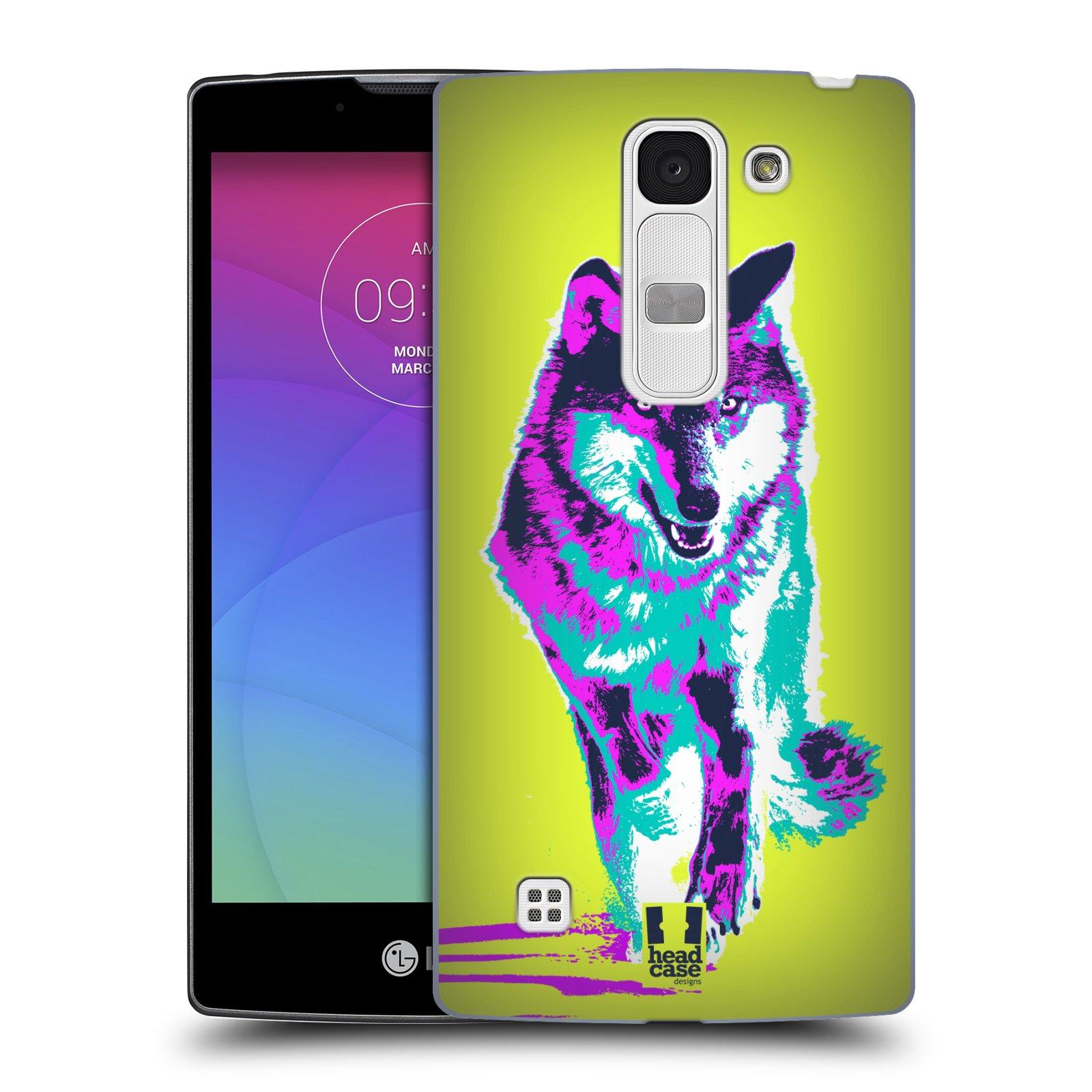 Plastové pouzdro na mobil LG Spirit LTE HEAD CASE POP PRINT VLK (Kryt či obal na mobilní telefon LG Spirit H420 a LG Spirit LTE H440N)