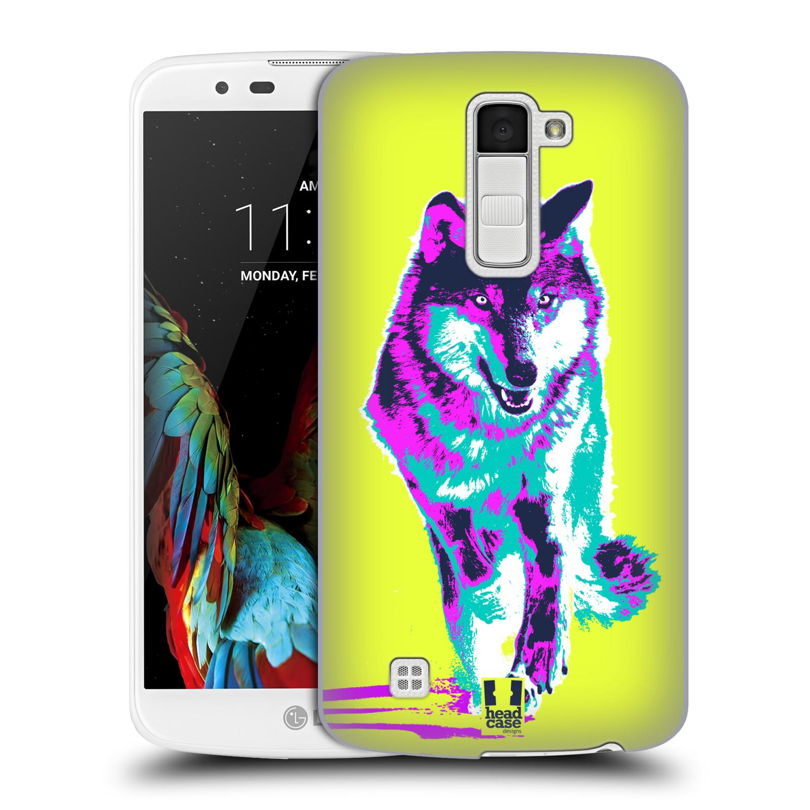 Plastové pouzdro na mobil LG K10 HEAD CASE POP PRINT VLK (Kryt či obal na mobilní telefon LG K10)