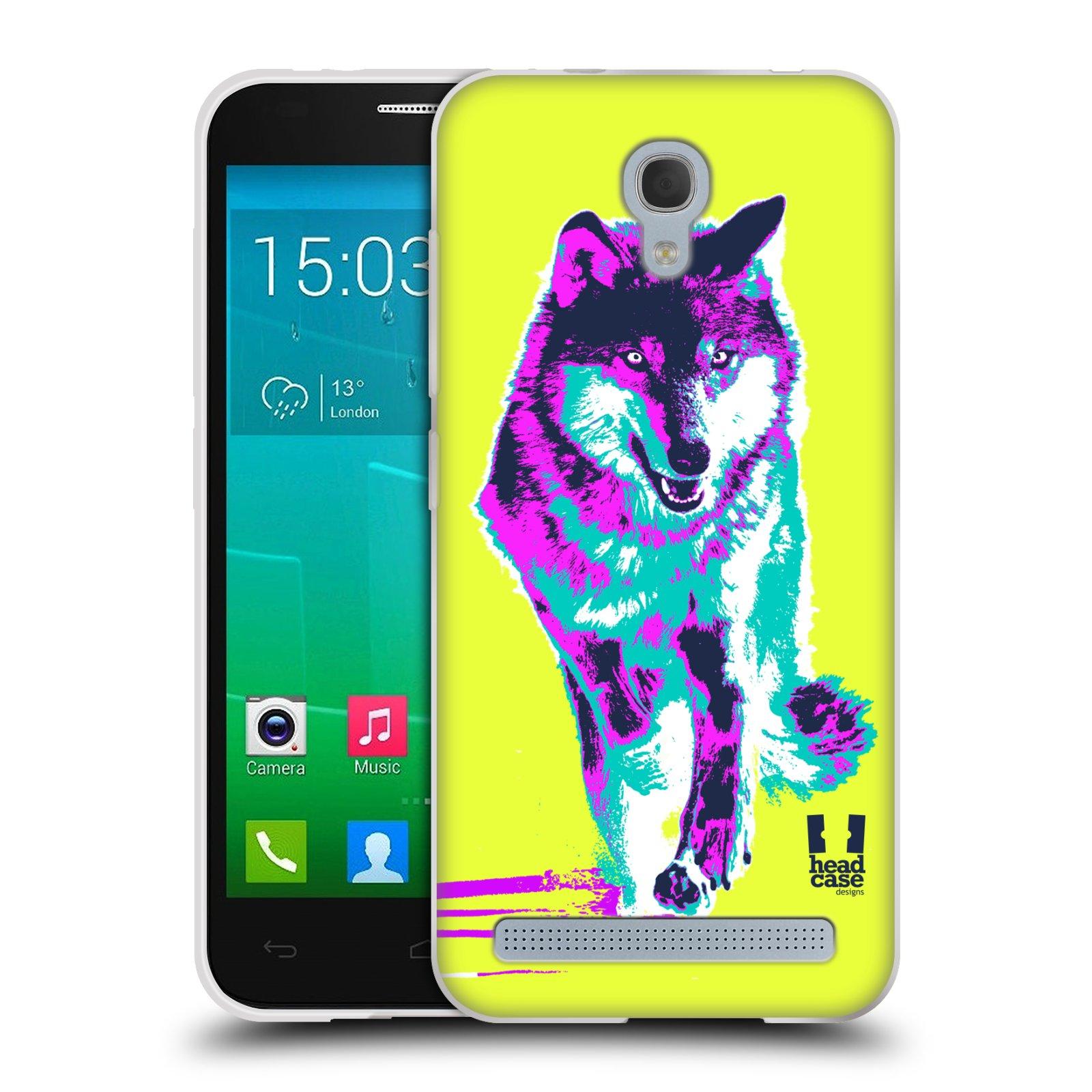 Silikonové pouzdro na mobil Alcatel One Touch Idol 2 Mini S 6036Y HEAD CASE POP PRINT VLK (Silikonový kryt či obal na mobilní telefon Alcatel Idol 2 Mini S OT-6036Y)