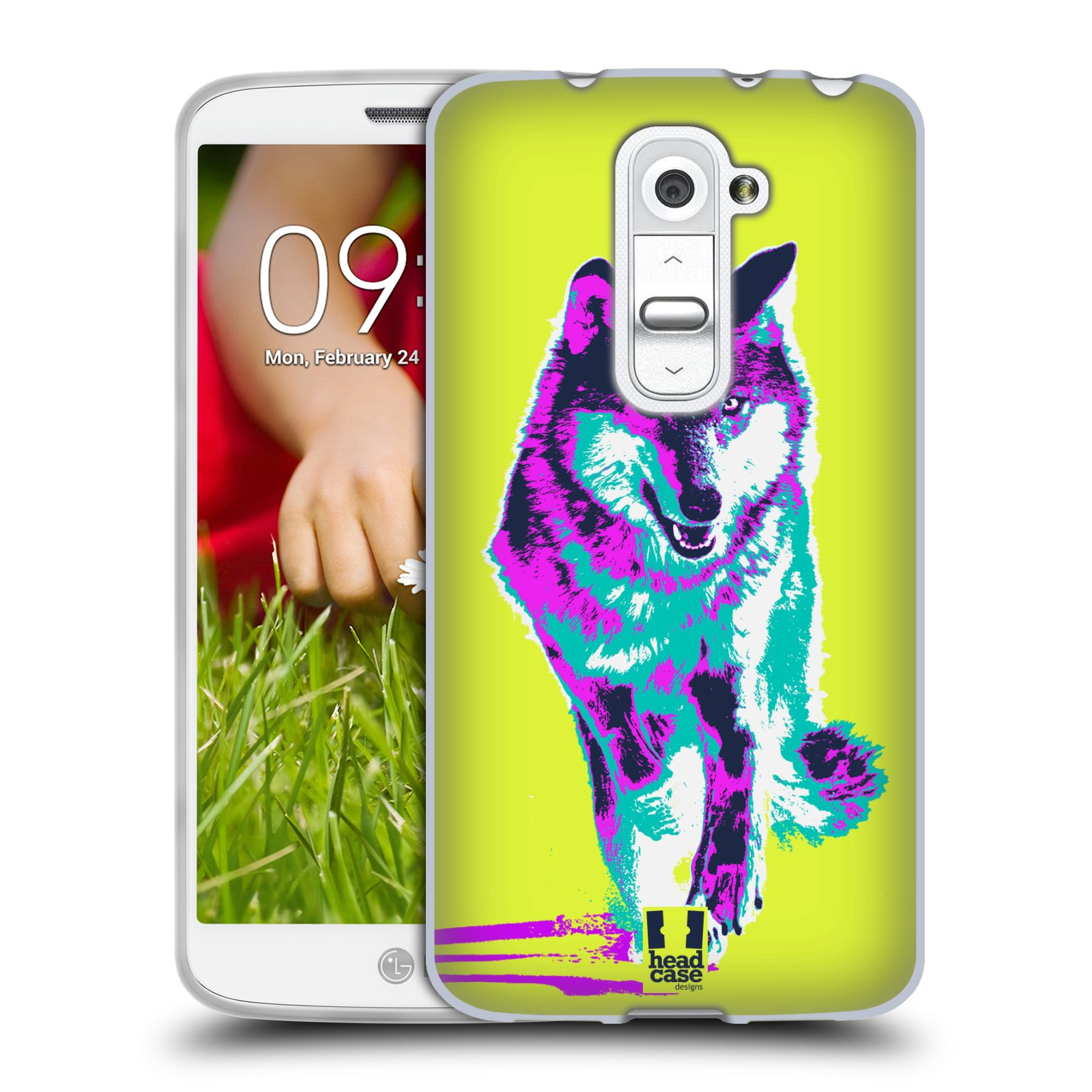 Silikonové pouzdro na mobil LG G2 Mini HEAD CASE POP PRINT VLK (Silikonový kryt či obal na mobilní telefon LG G2 Mini D620)