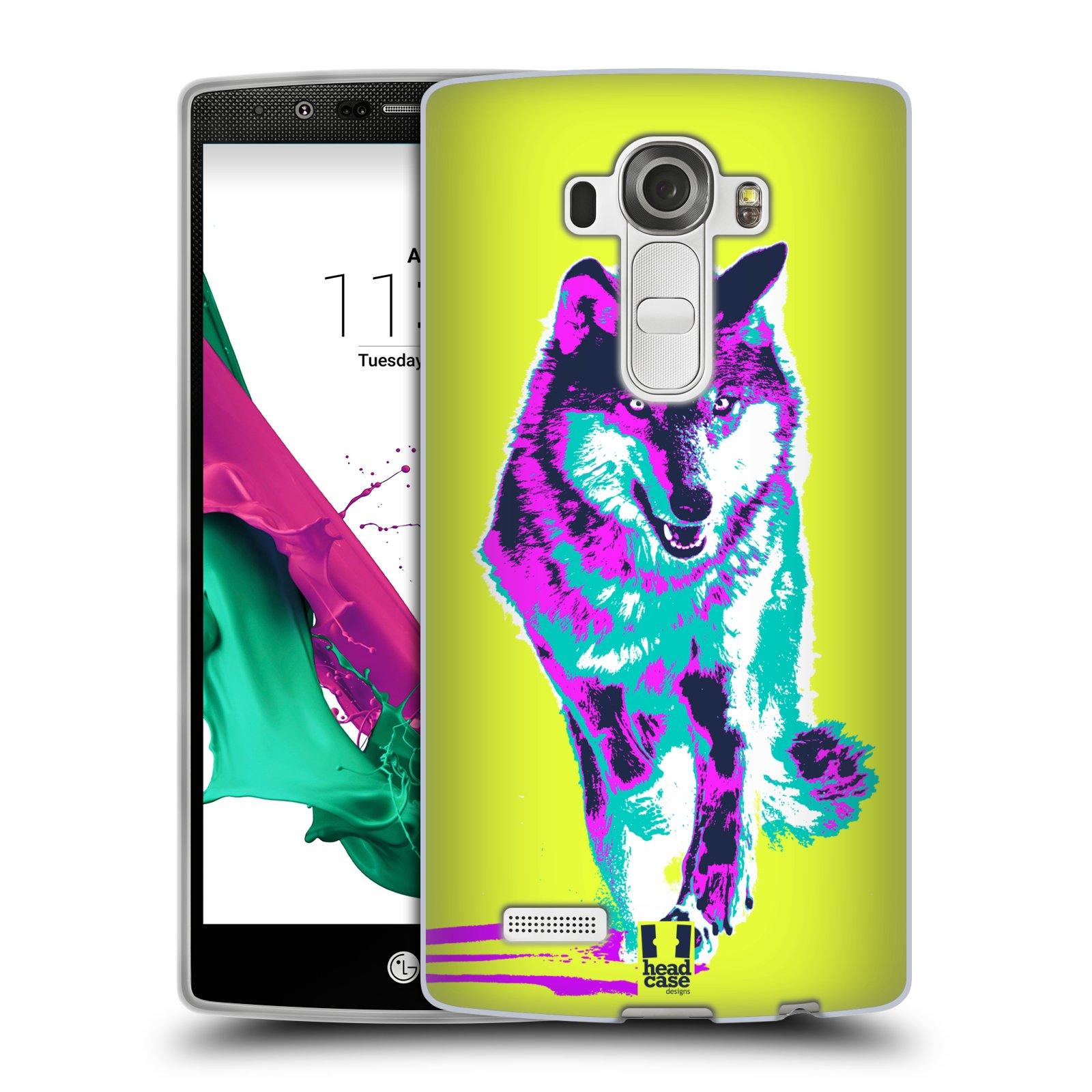 Silikonové pouzdro na mobil LG G4 HEAD CASE POP PRINT VLK (Silikonový kryt či obal na mobilní telefon LG G4 H815)
