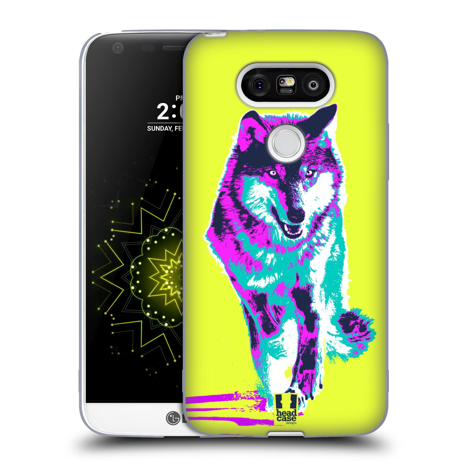 Silikonové pouzdro na mobil LG G5 HEAD CASE POP PRINT VLK (Silikonový kryt či obal na mobilní telefon LG G5 H850)