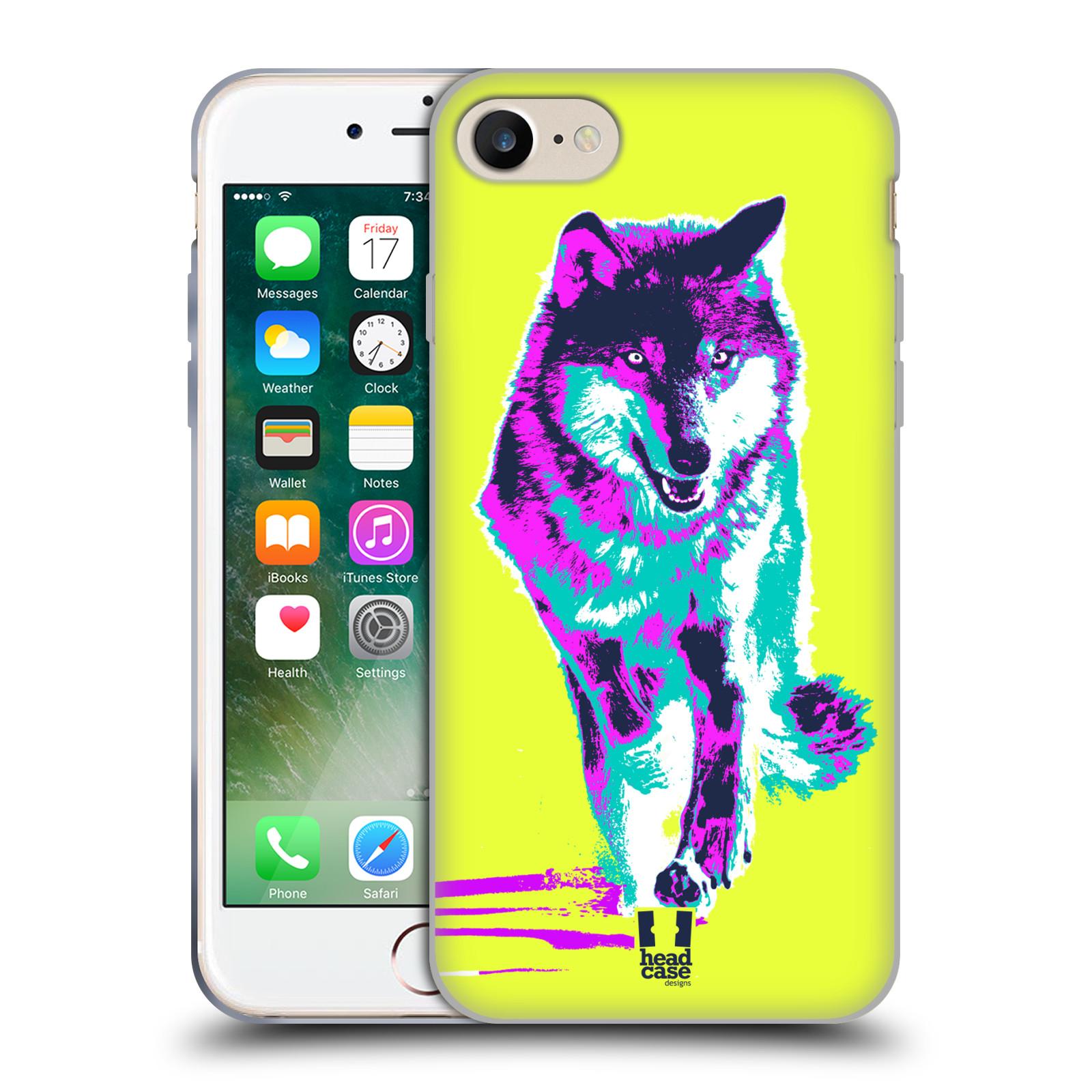 Silikonové pouzdro na mobil Apple iPhone 8 - Head Case - POP PRINT VLK (Silikonový kryt či obal na mobilní telefon Apple iPhone 8 s motivem POP PRINT VLK)