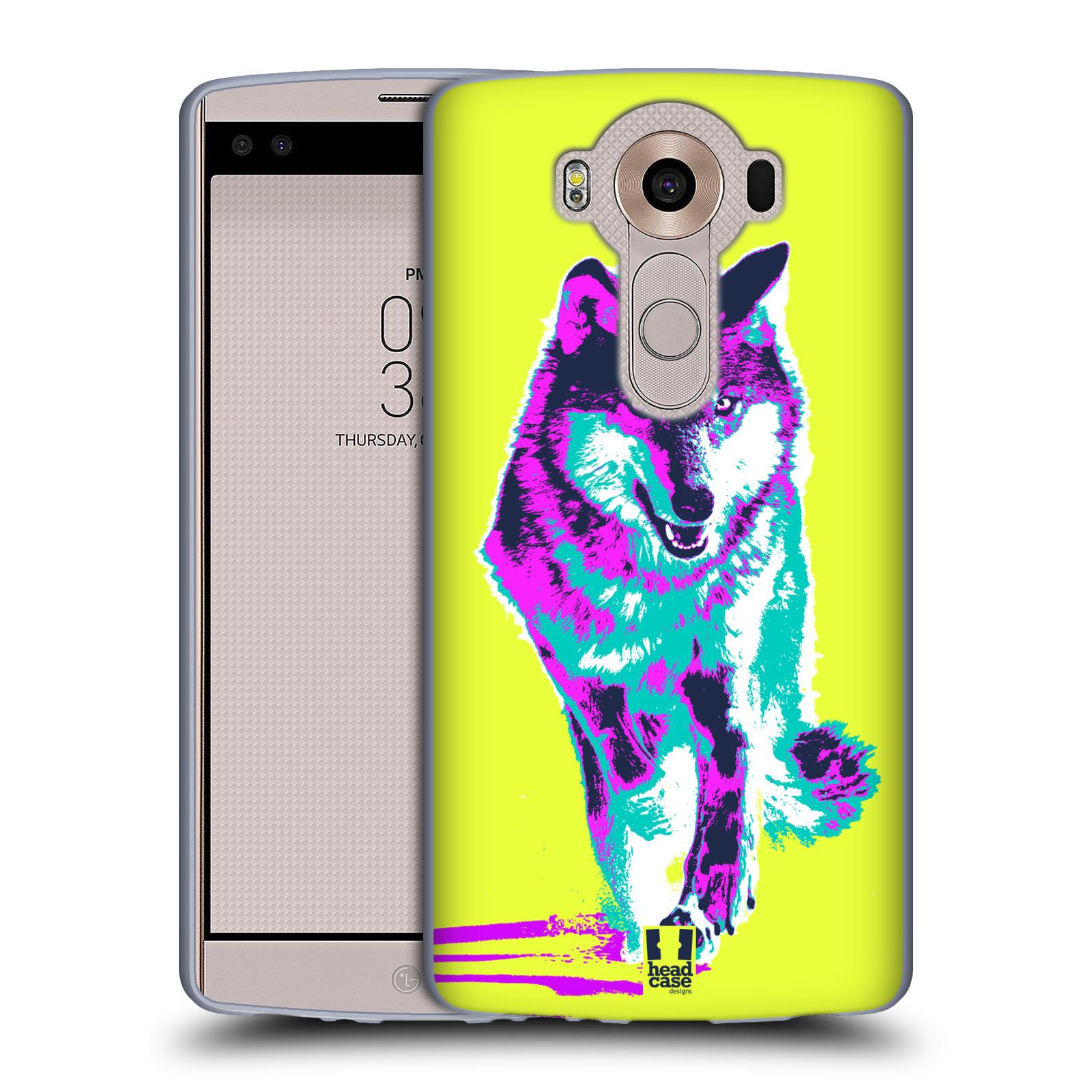 Silikonové pouzdro na mobil LG V10 HEAD CASE POP PRINT VLK (Silikonový kryt či obal na mobilní telefon LG V10 H960 / H960A)