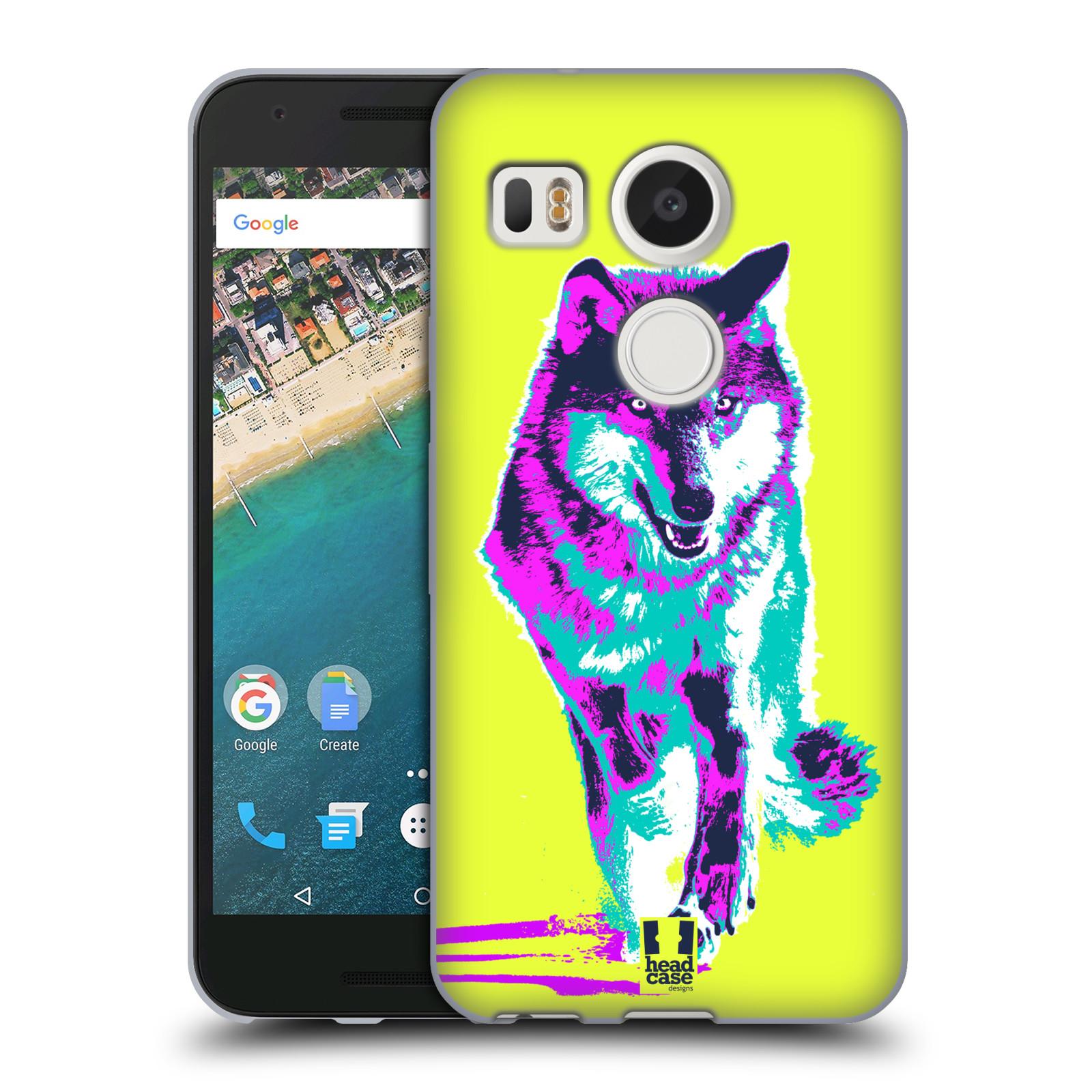 Silikonové pouzdro na mobil LG Nexus 5X - Head Case - POP PRINT VLK (Silikonový kryt či obal na mobilní telefon LG Nexus 5X)