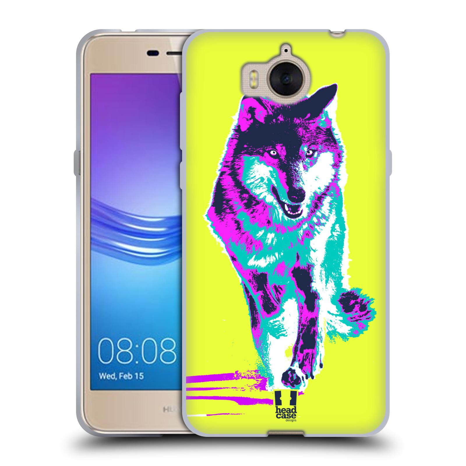 Silikonové pouzdro na mobil Huawei Y6 2017 - Head Case - POP PRINT VLK (Silikonový kryt či obal na mobilní telefon Huawei Y6 (2017) s motivem POP PRINT VLK)