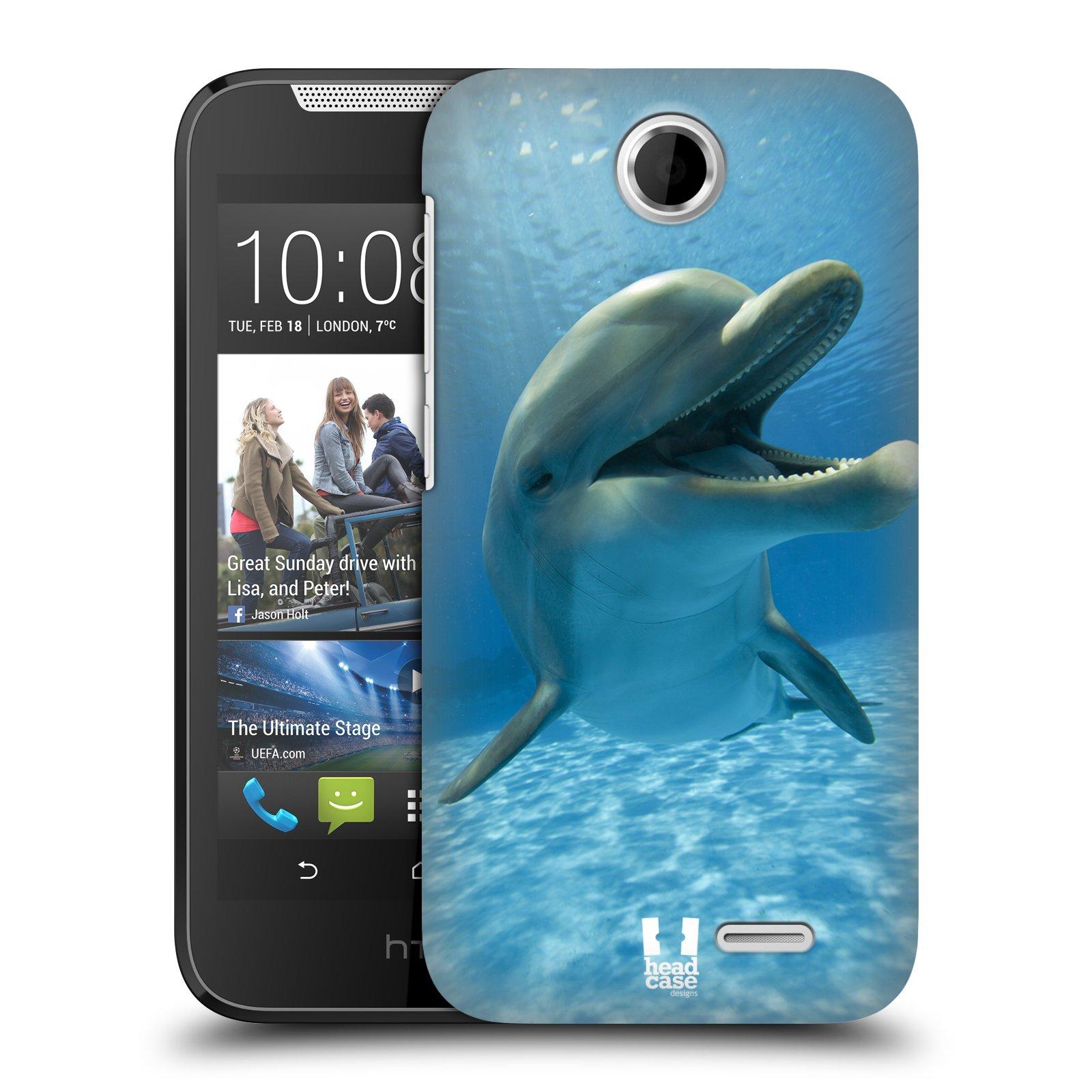 Plastové pouzdro na mobil HTC Desire 310 HEAD CASE DIVOČINA – DELFÍN (Kryt či obal na mobilní telefon HTC Desire 310)