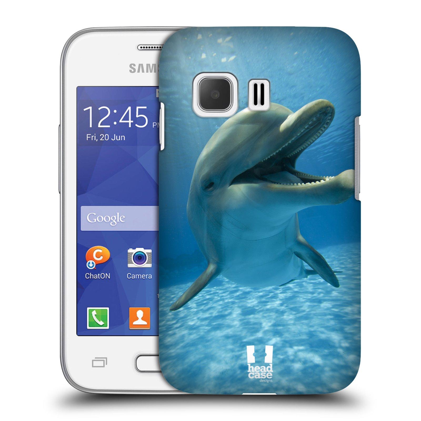 Plastové pouzdro na mobil Samsung Galaxy Young 2 HEAD CASE DIVOČINA – DELFÍN