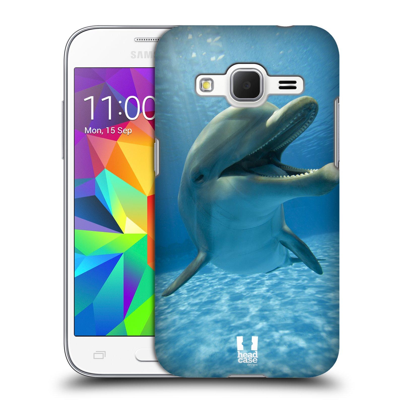 Plastové pouzdro na mobil Samsung Galaxy Core Prime LTE HEAD CASE DIVOČINA – DELFÍN