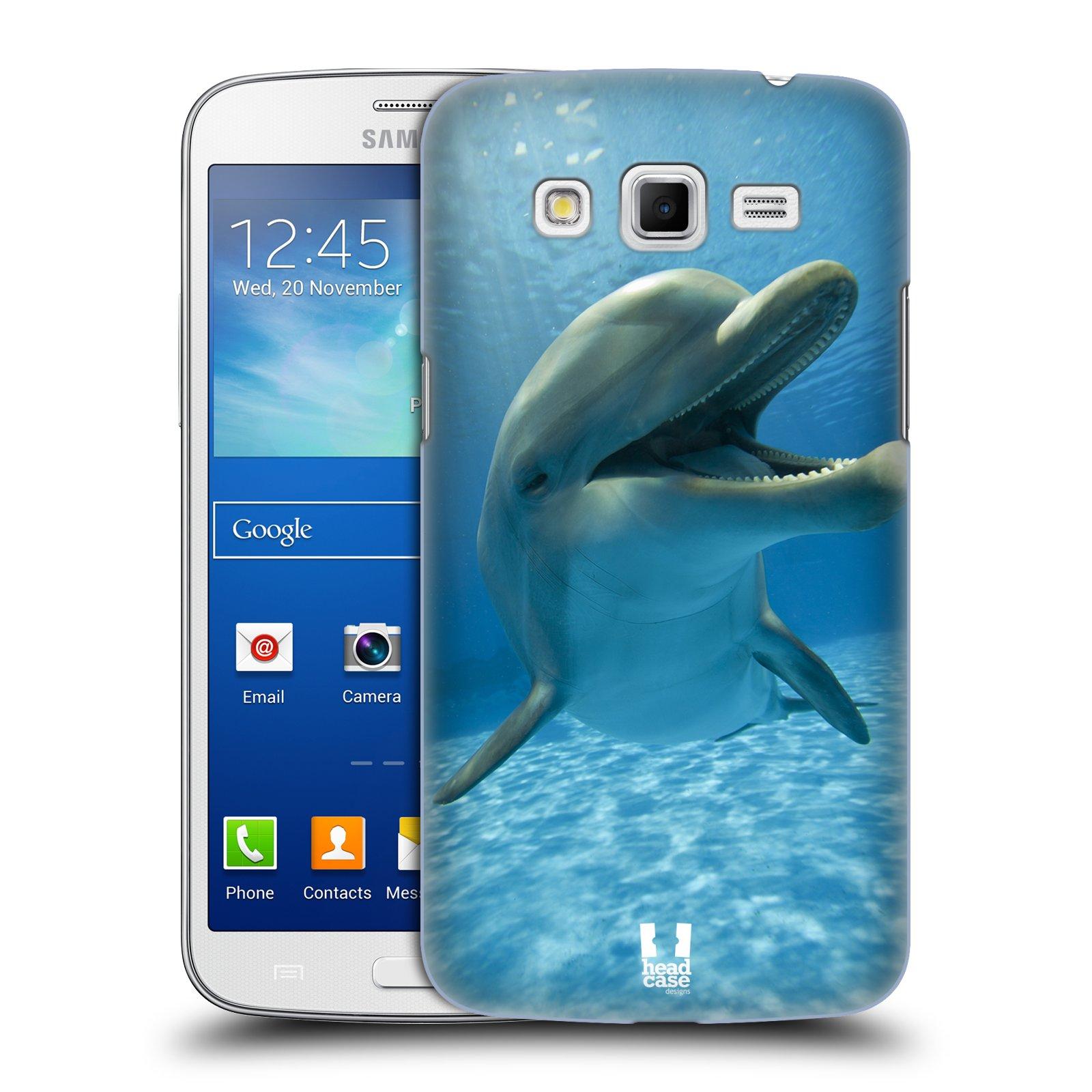 Plastové pouzdro na mobil Samsung Galaxy Grand 2 HEAD CASE DIVOČINA – DELFÍN (Kryt či obal na mobilní telefon Samsung Galaxy Grand 2 LTE SM-G7105 a Samsung Galaxy Grand 2 Duos SM-G7102)
