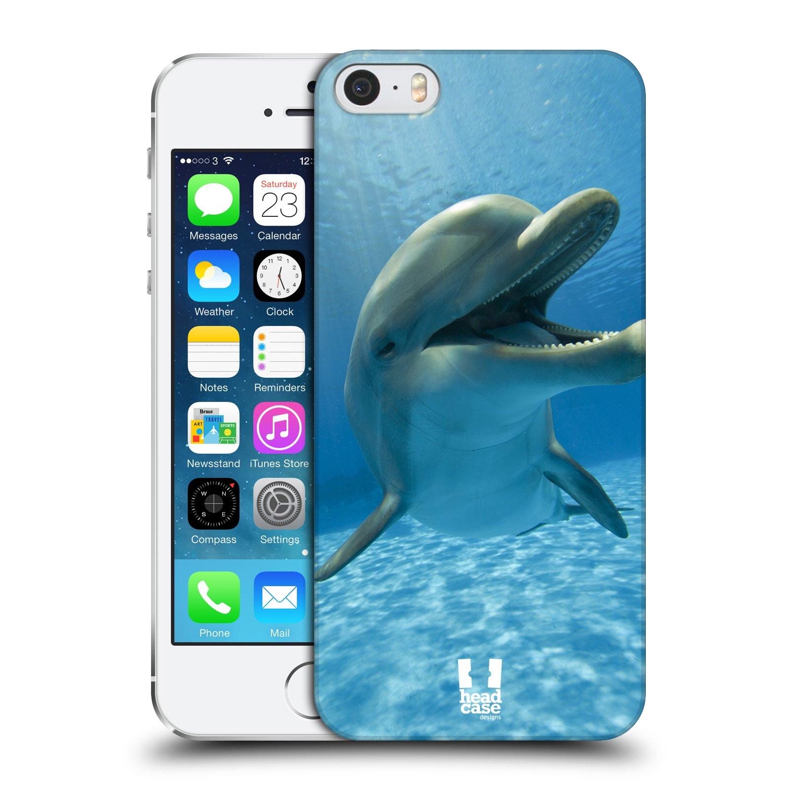 Plastové pouzdro na mobil Apple iPhone SE, 5 a 5S HEAD CASE DIVOČINA – DELFÍN