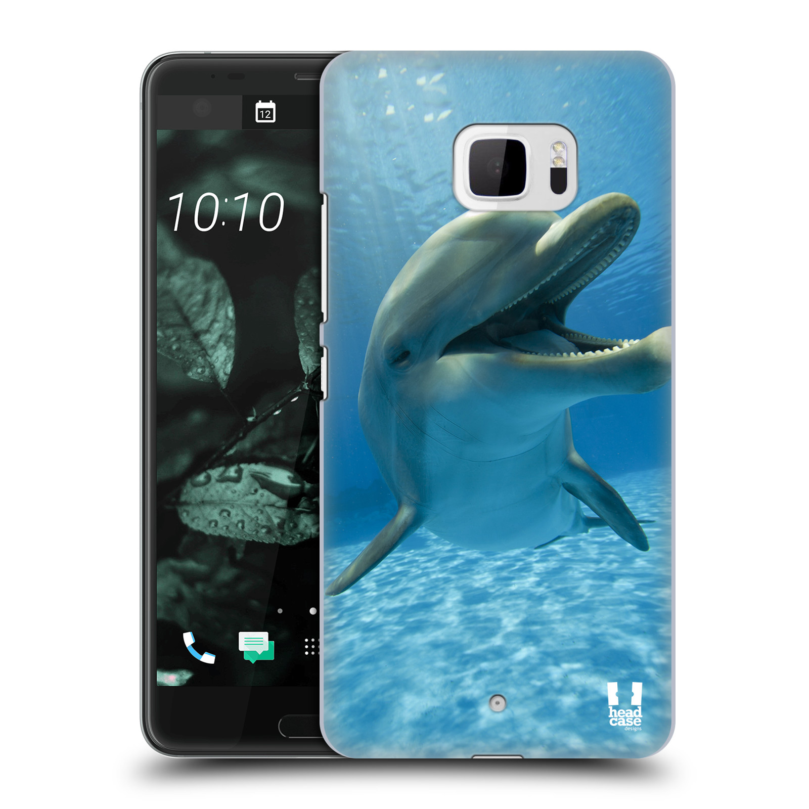 Plastové pouzdro na mobil HTC U Ultra Head Case - DIVOČINA – DELFÍN (Plastový kryt či obal na mobilní telefon HTC U Ultra (99HALT015-00))
