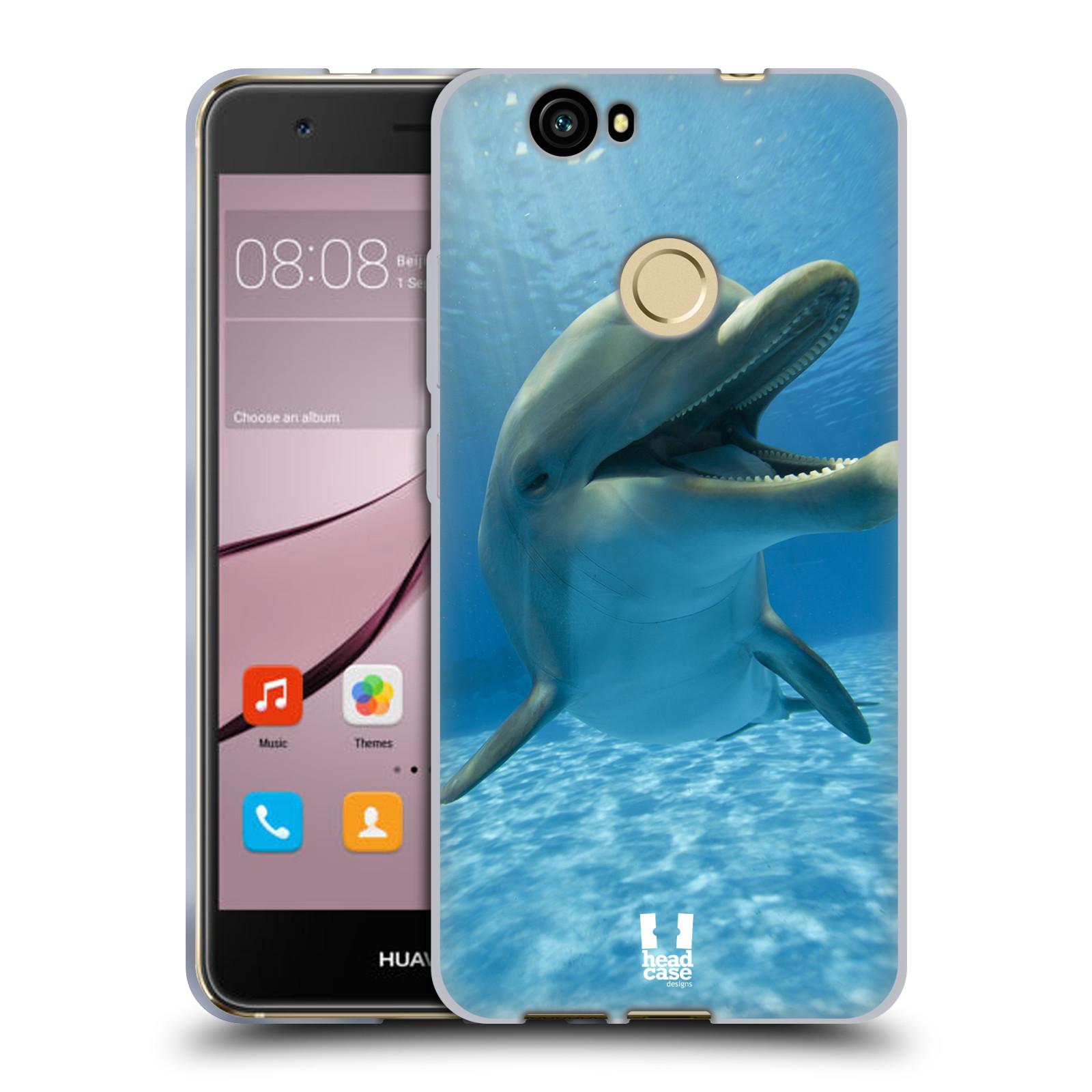 Silikonové pouzdro na mobil Huawei Nova - Head Case - DIVOČINA – DELFÍN