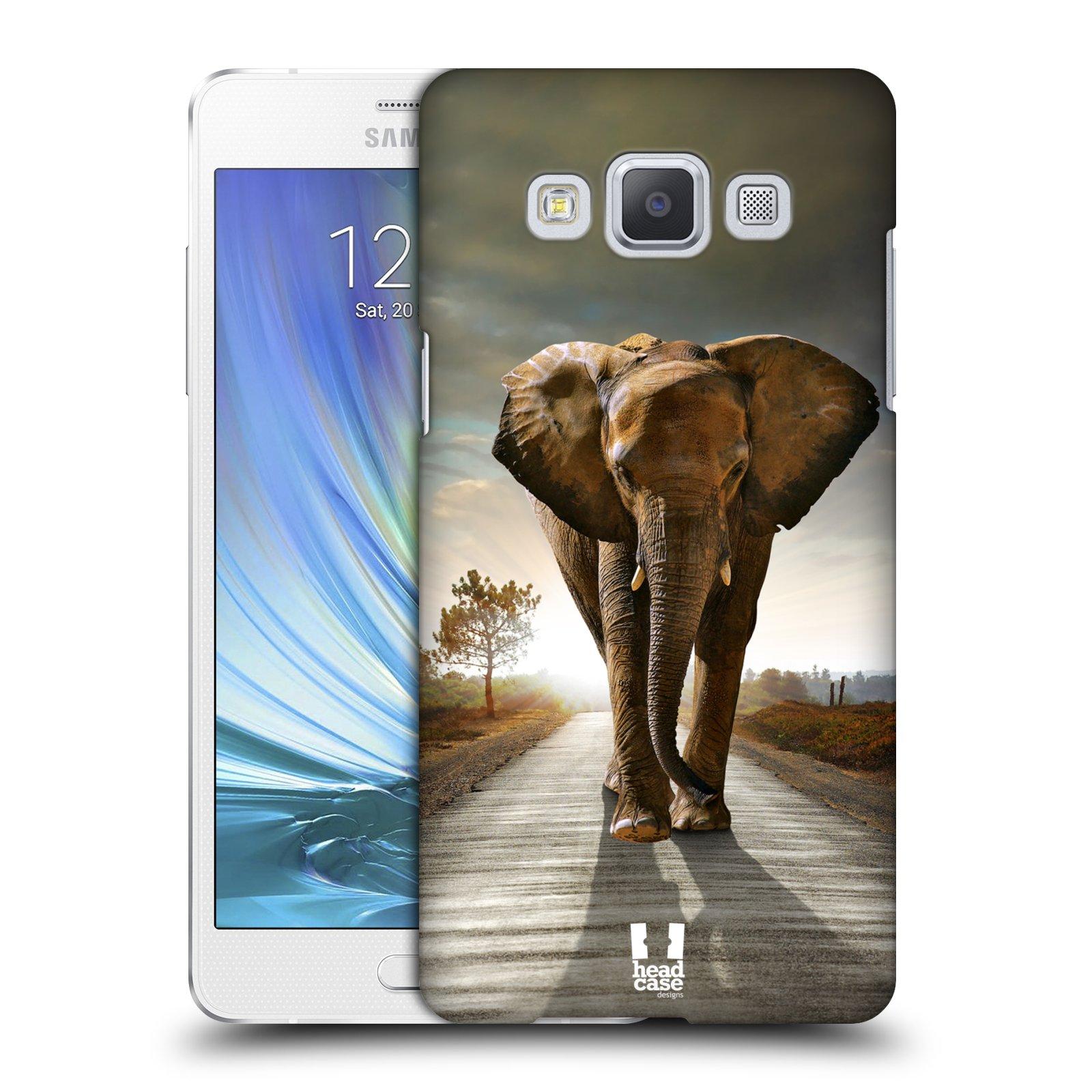 Plastové pouzdro na mobil Samsung Galaxy A5 HEAD CASE DIVOČINA – SLON