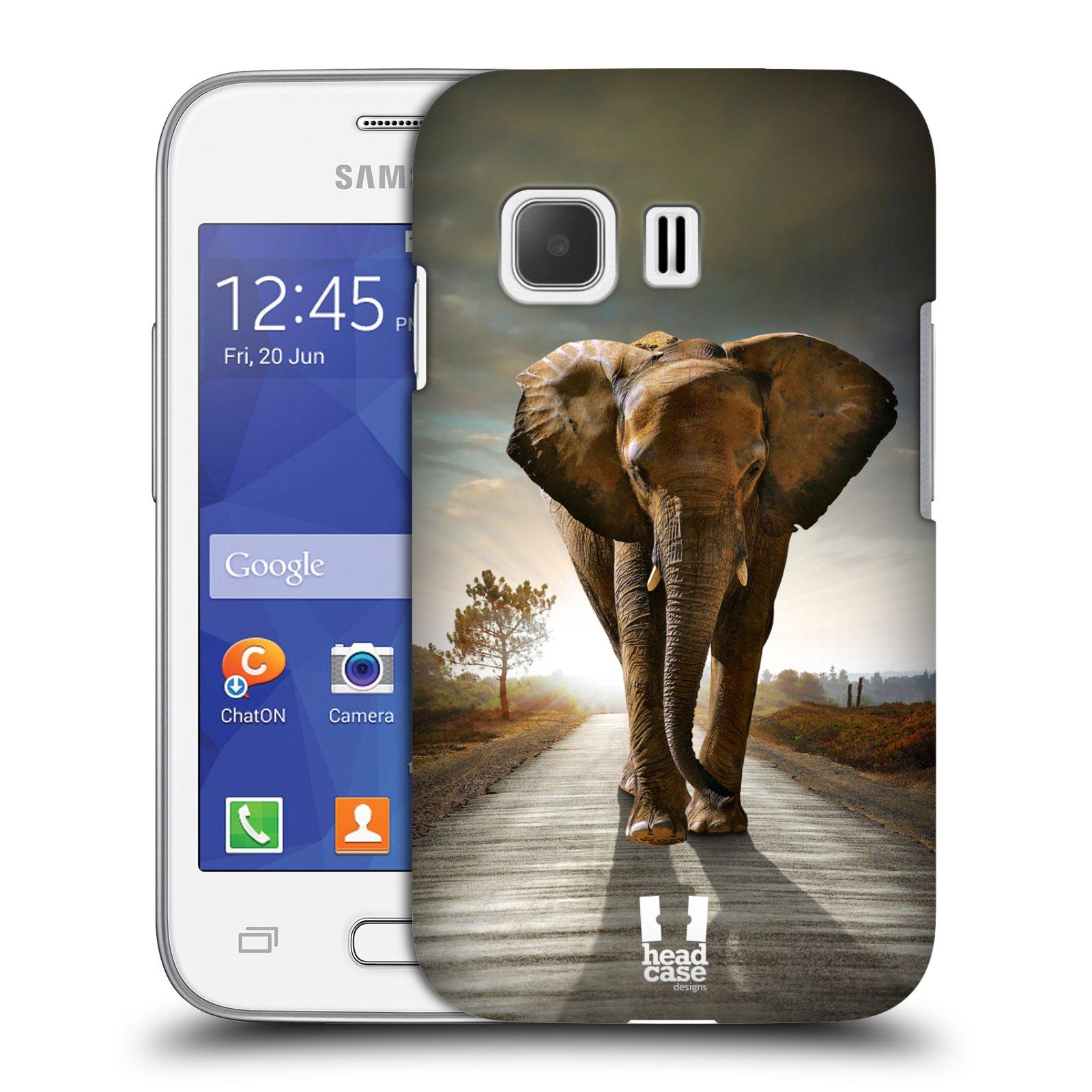 Plastové pouzdro na mobil Samsung Galaxy Young 2 HEAD CASE DIVOČINA – SLON