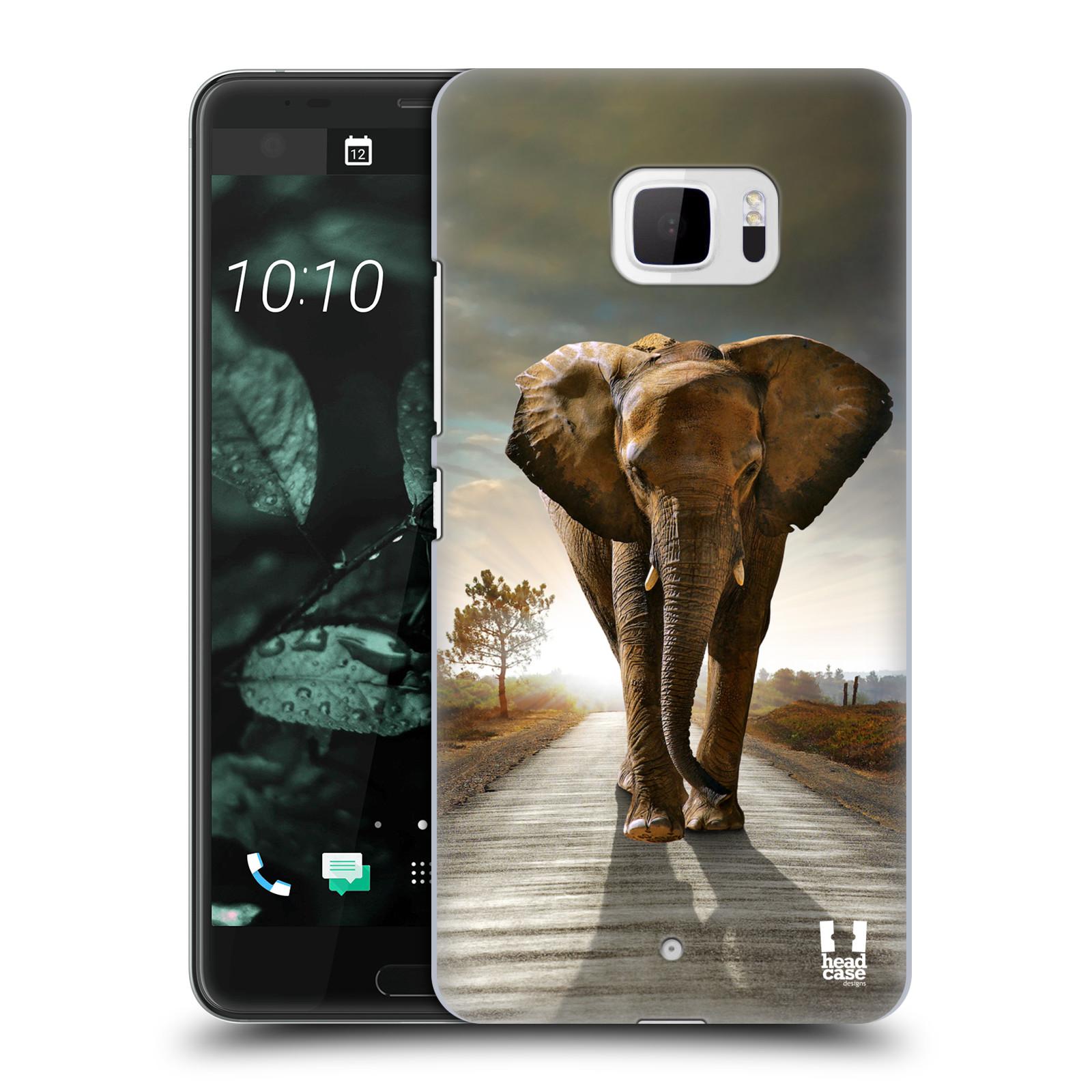 Plastové pouzdro na mobil HTC U Ultra Head Case - DIVOČINA – SLON (Plastový kryt či obal na mobilní telefon HTC U Ultra (99HALT015-00))