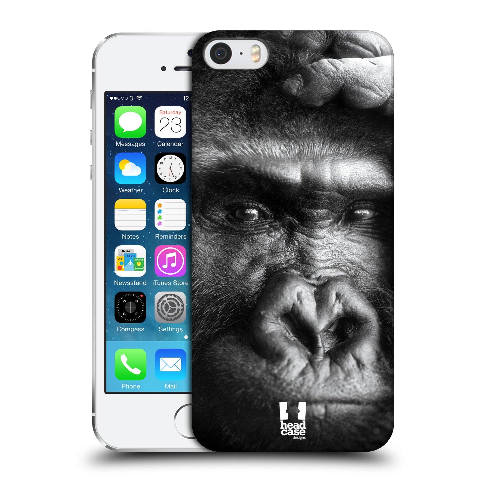Plastové pouzdro na mobil Apple iPhone SE, 5 a 5S HEAD CASE DIVOČINA – GORILA