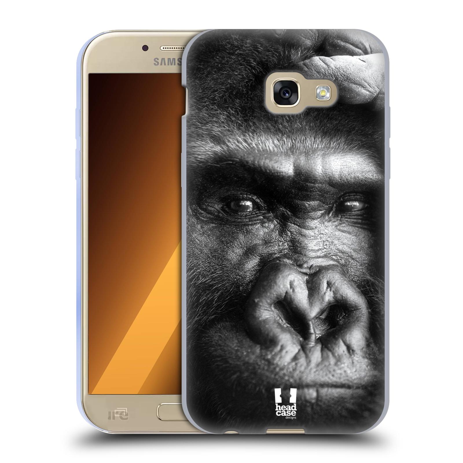Silikonové pouzdro na mobil Samsung Galaxy A5 (2017) HEAD CASE DIVOČINA – GORILA