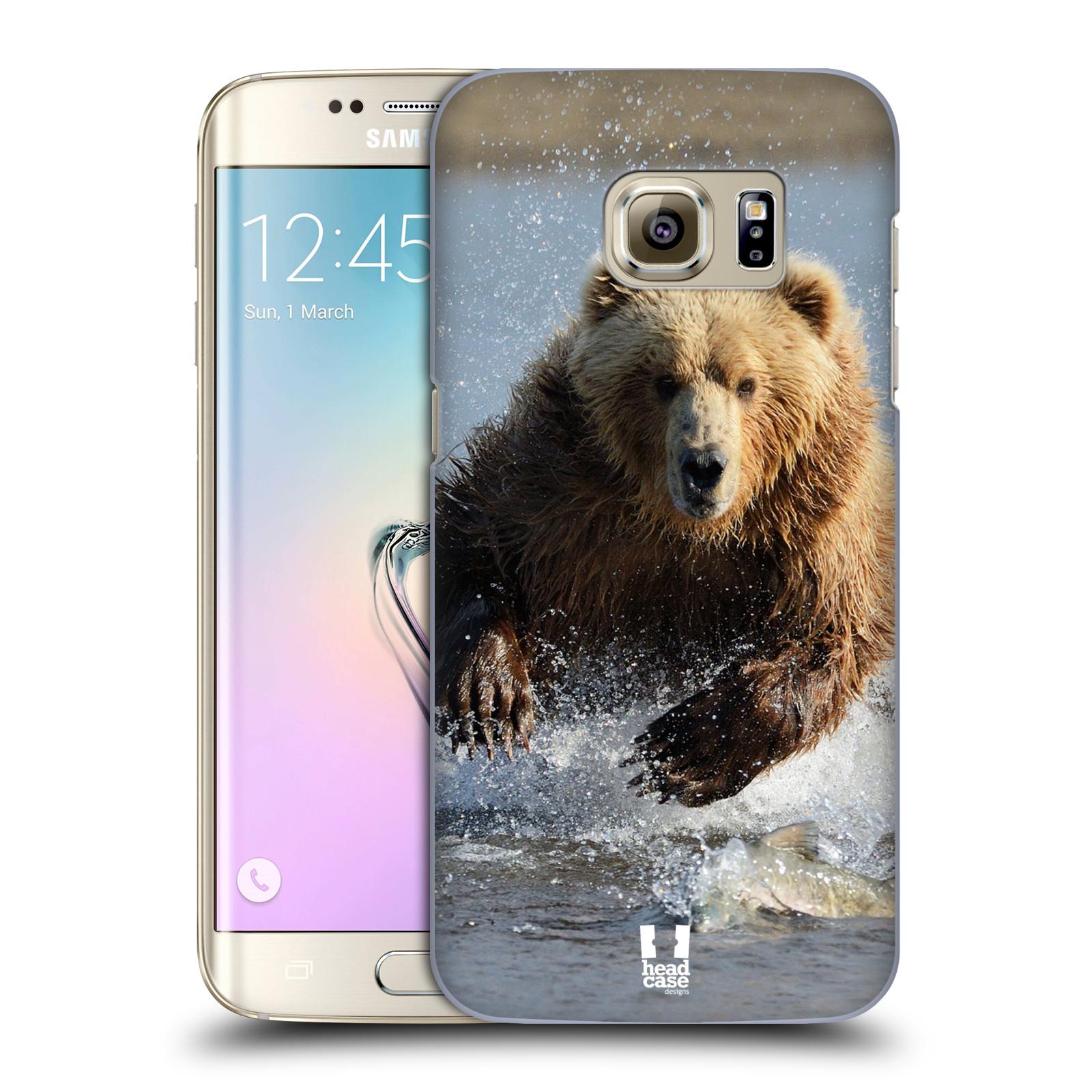 Plastové pouzdro na mobil Samsung Galaxy S7 Edge HEAD CASE DIVOČINA – GRIZZLY (Kryt či obal na mobilní telefon Samsung Galaxy S7 Edge SM-G935F)
