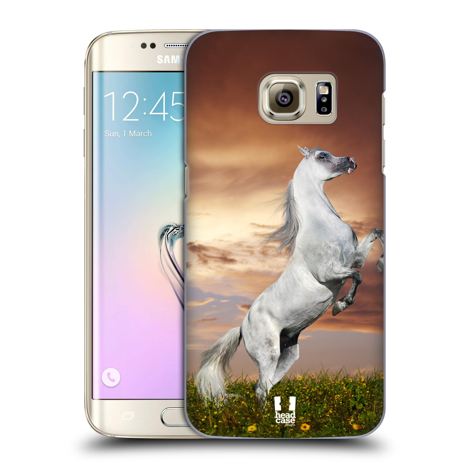 Plastové pouzdro na mobil Samsung Galaxy S7 Edge HEAD CASE DIVOČINA – KŮŇ (Kryt či obal na mobilní telefon Samsung Galaxy S7 Edge SM-G935F)