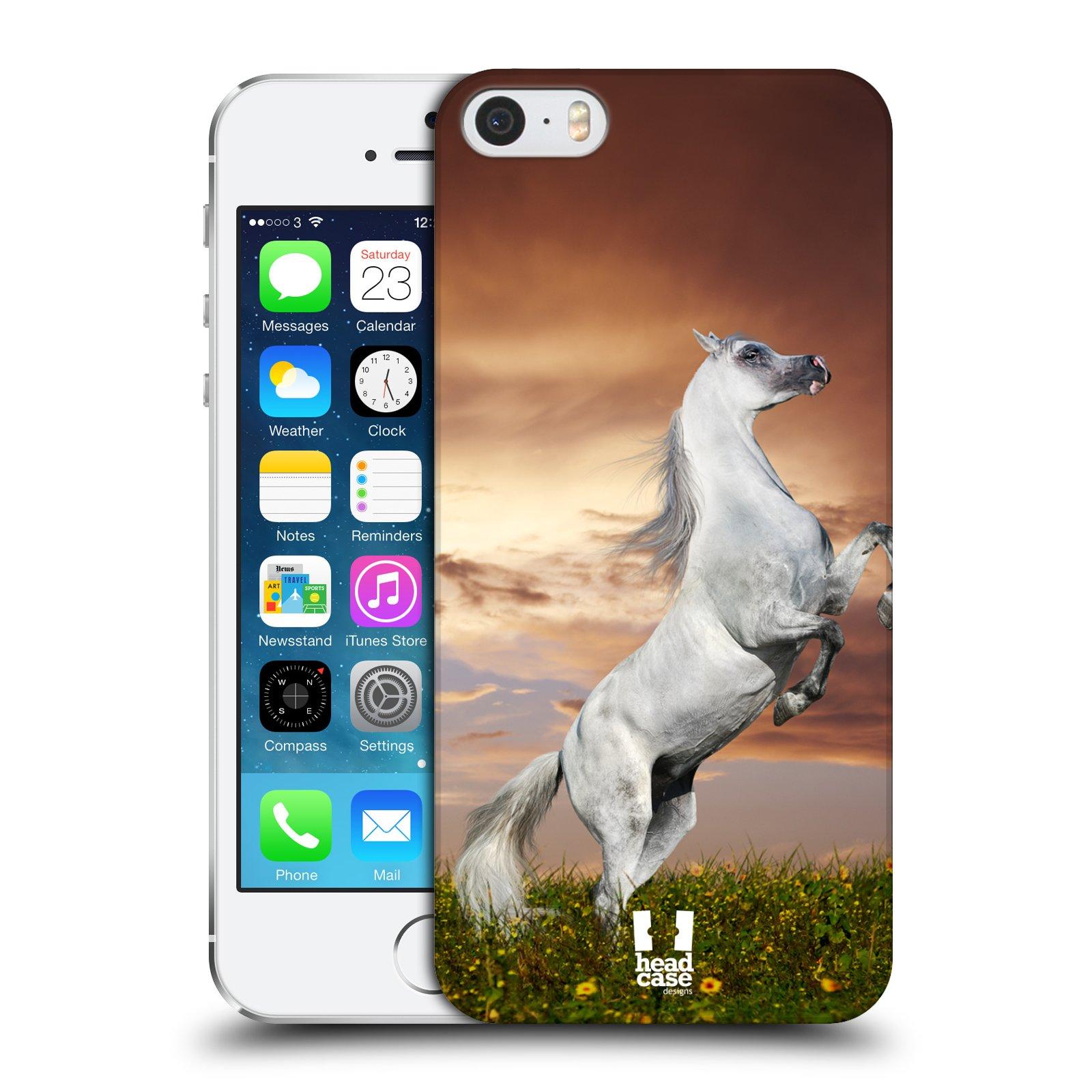 Plastové pouzdro na mobil Apple iPhone SE, 5 a 5S HEAD CASE DIVOČINA – KŮŇ