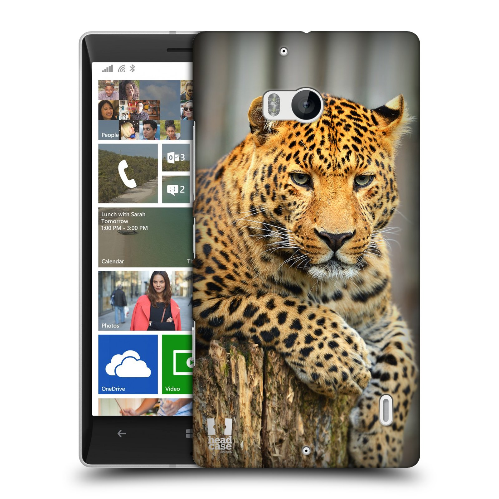 Plastové pouzdro na mobil Nokia Lumia 930 HEAD CASE DIVOČINA – LEOPARD
