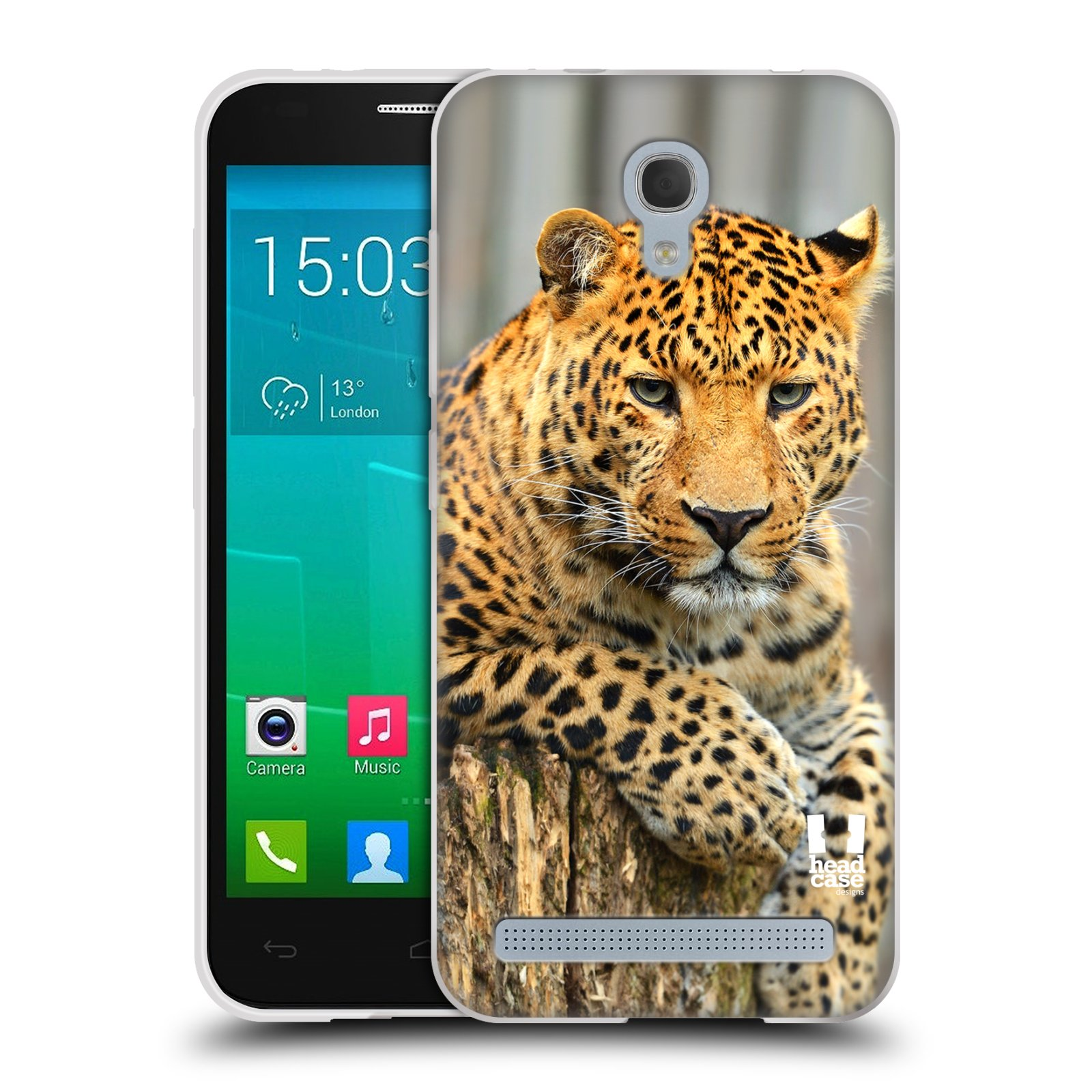 Silikonové pouzdro na mobil Alcatel One Touch Idol 2 Mini S 6036Y HEAD CASE DIVOČINA – LEOPARD