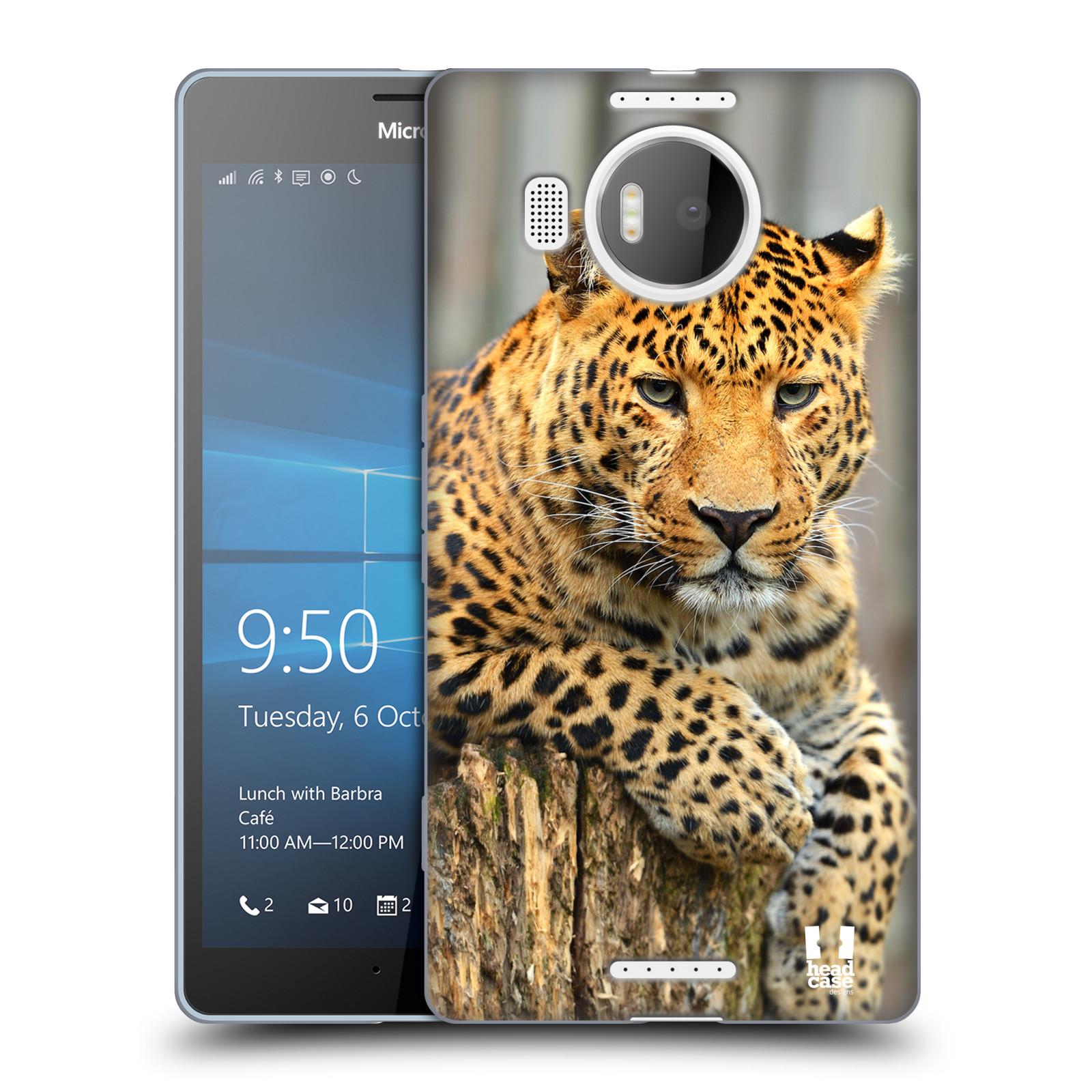 Silikonové pouzdro na mobil Microsoft Lumia 950 XL HEAD CASE DIVOČINA – LEOPARD